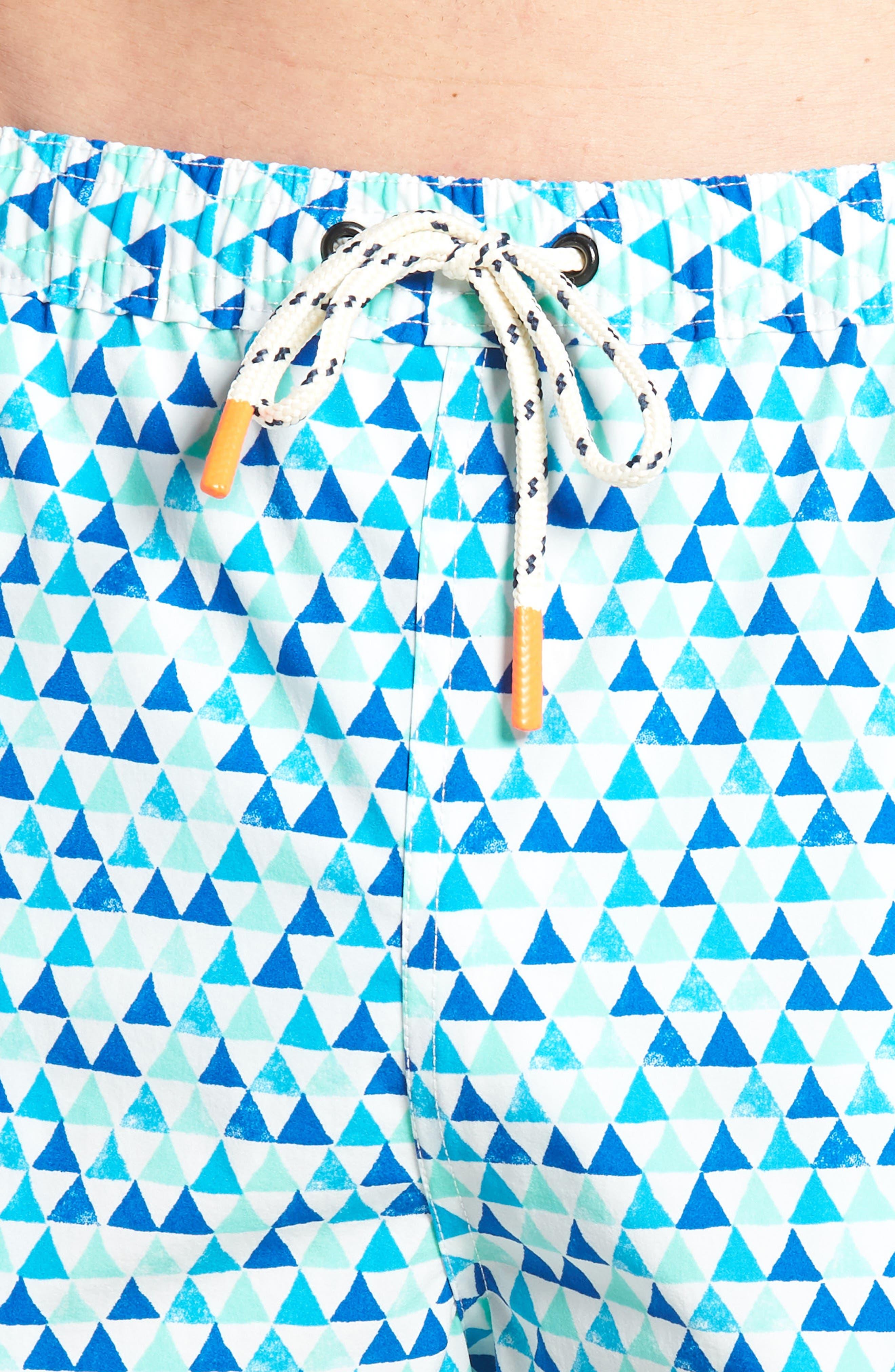 Printer Swim Trunks,                             Alternate thumbnail 4, color,                             Lapis