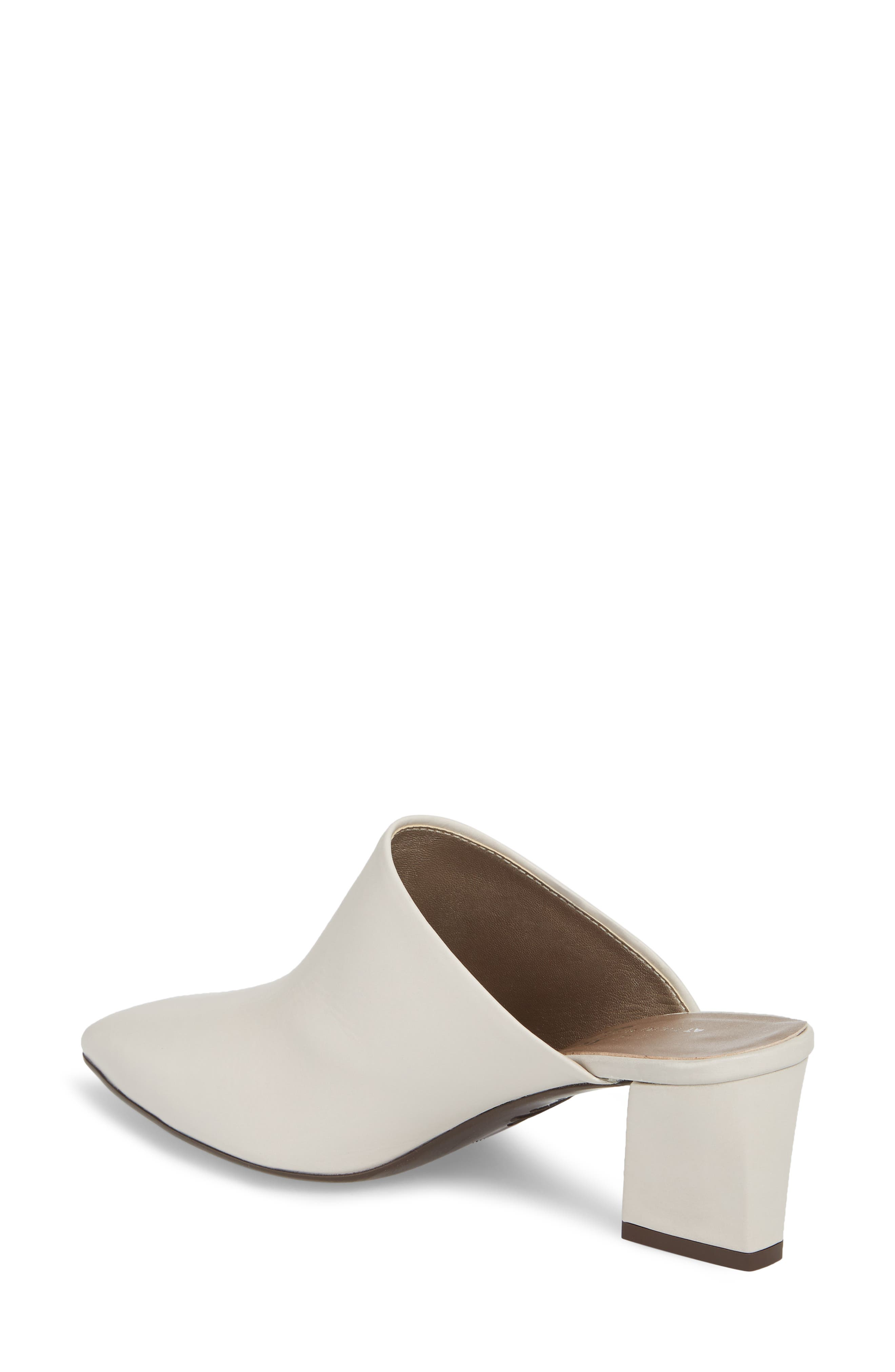 Pointy Toe Mule,                             Alternate thumbnail 2, color,                             Off White Leather