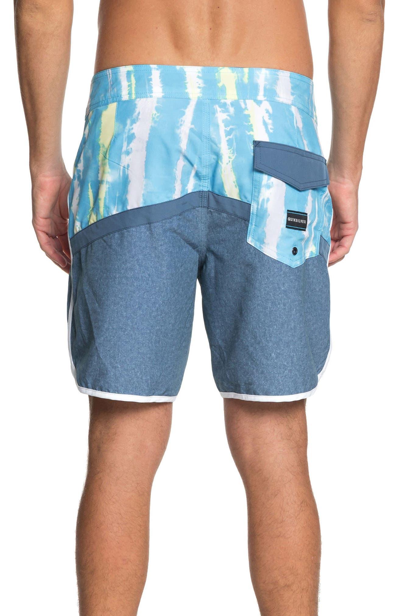 Highline Fortune Board Shorts,                             Alternate thumbnail 2, color,                             Cyan Blue