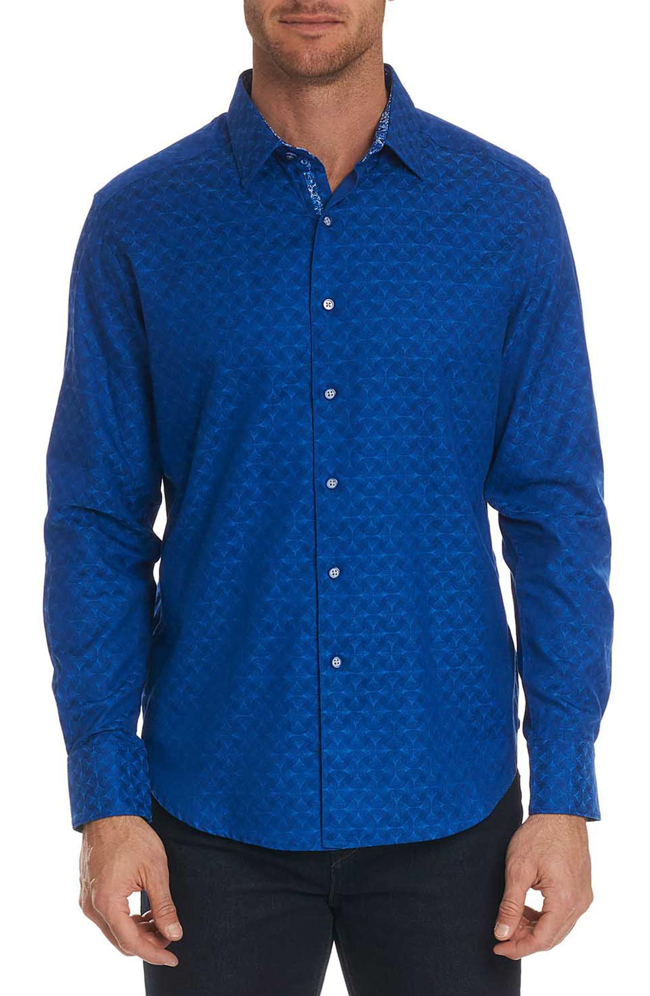 Alternate Image 1 Selected - Robert Graham Diamante Classic Fit Print Sport Shirt