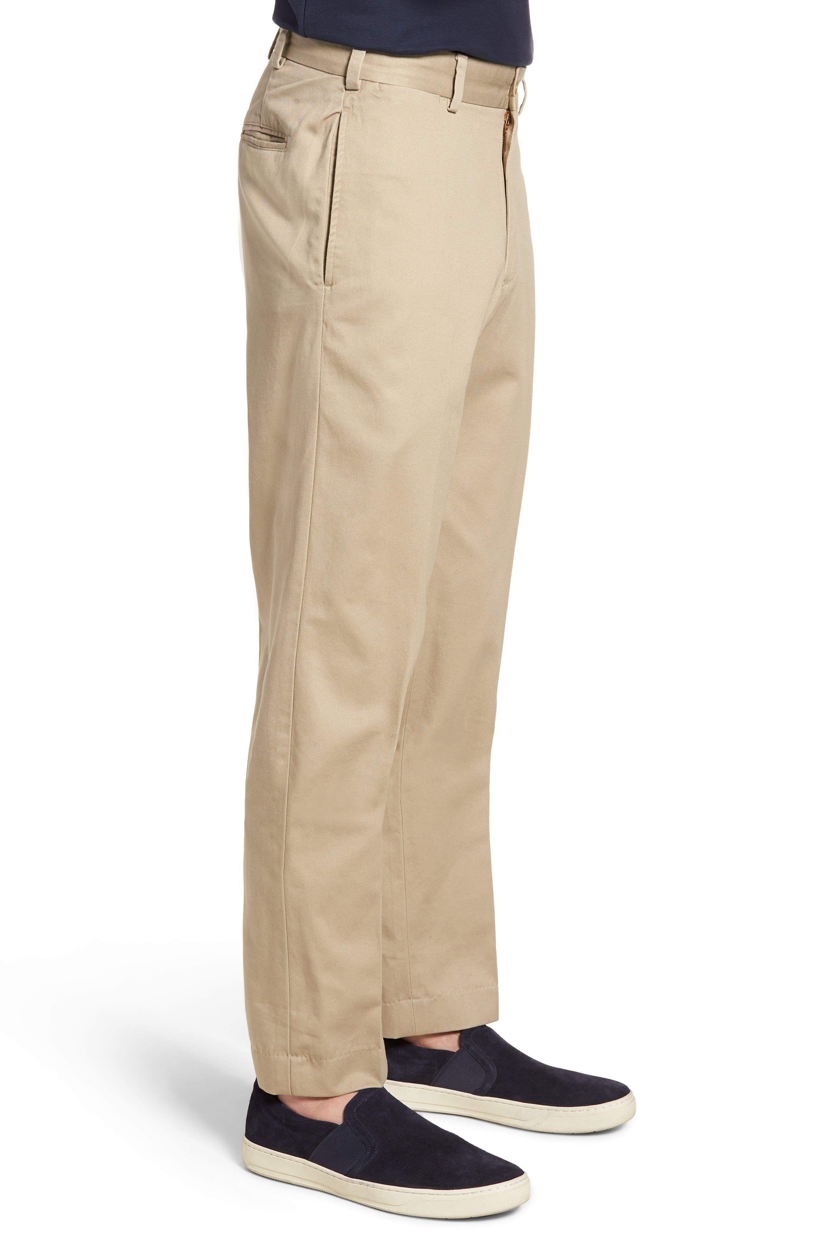 M2 Classic Fit Vintage Twill Flat Front Pants,                             Alternate thumbnail 3, color,                             Khaki