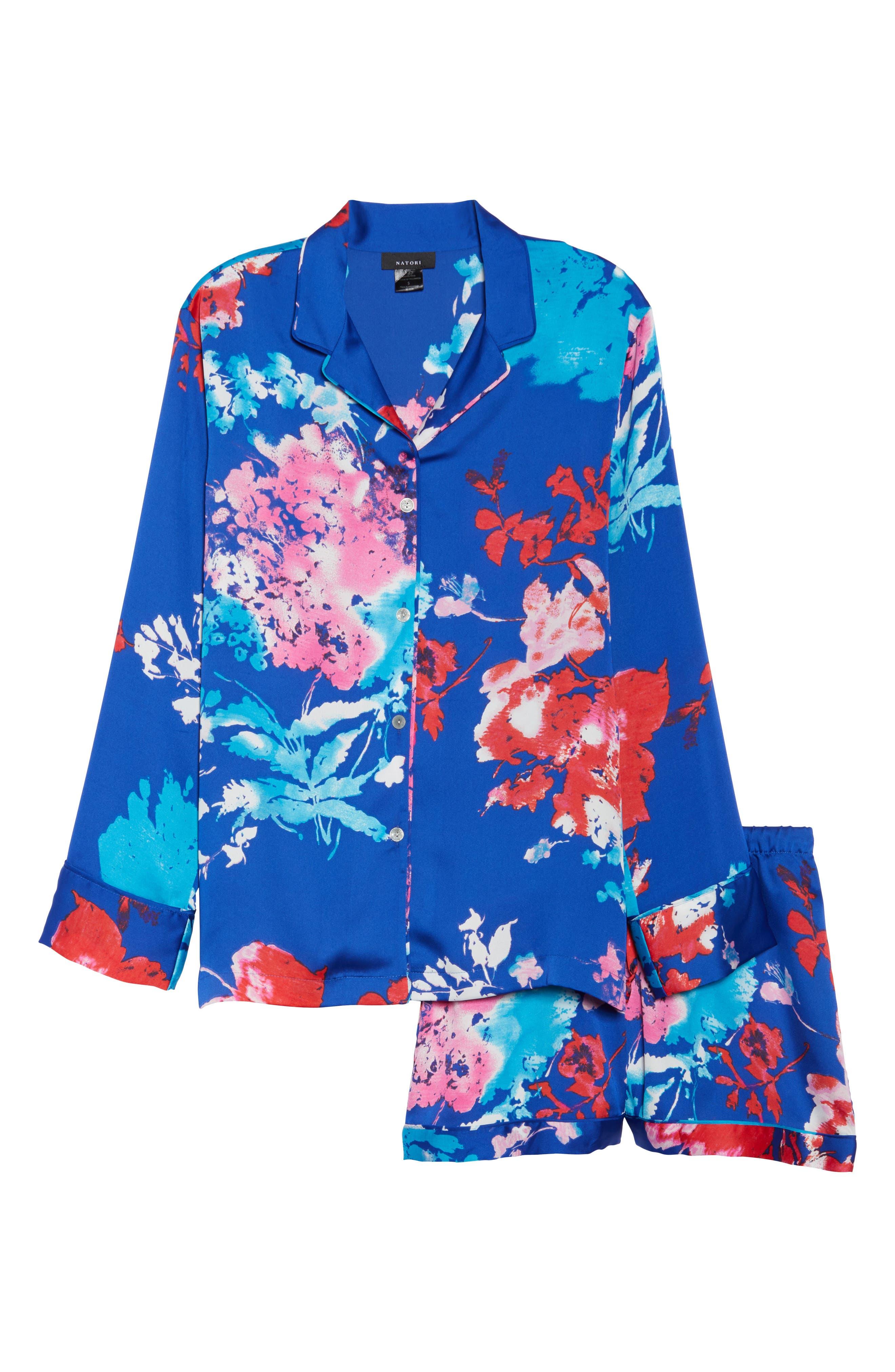 Fiji Short Pajamas,                             Alternate thumbnail 6, color,                             Cobalt