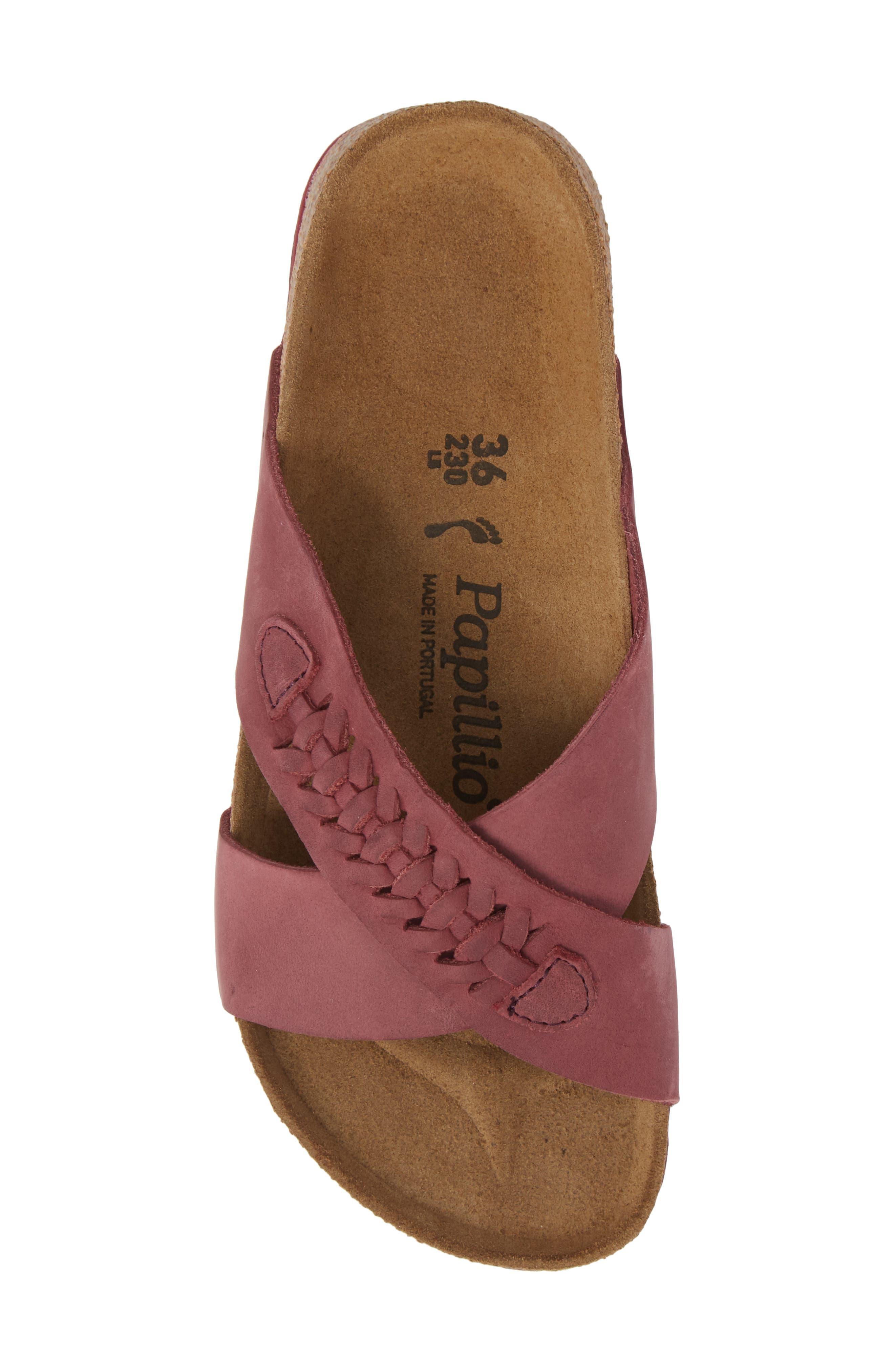 Papillio by Birkenstock Daytona Slide Sandal,                             Alternate thumbnail 5, color,                             Woven Wine Nubuck