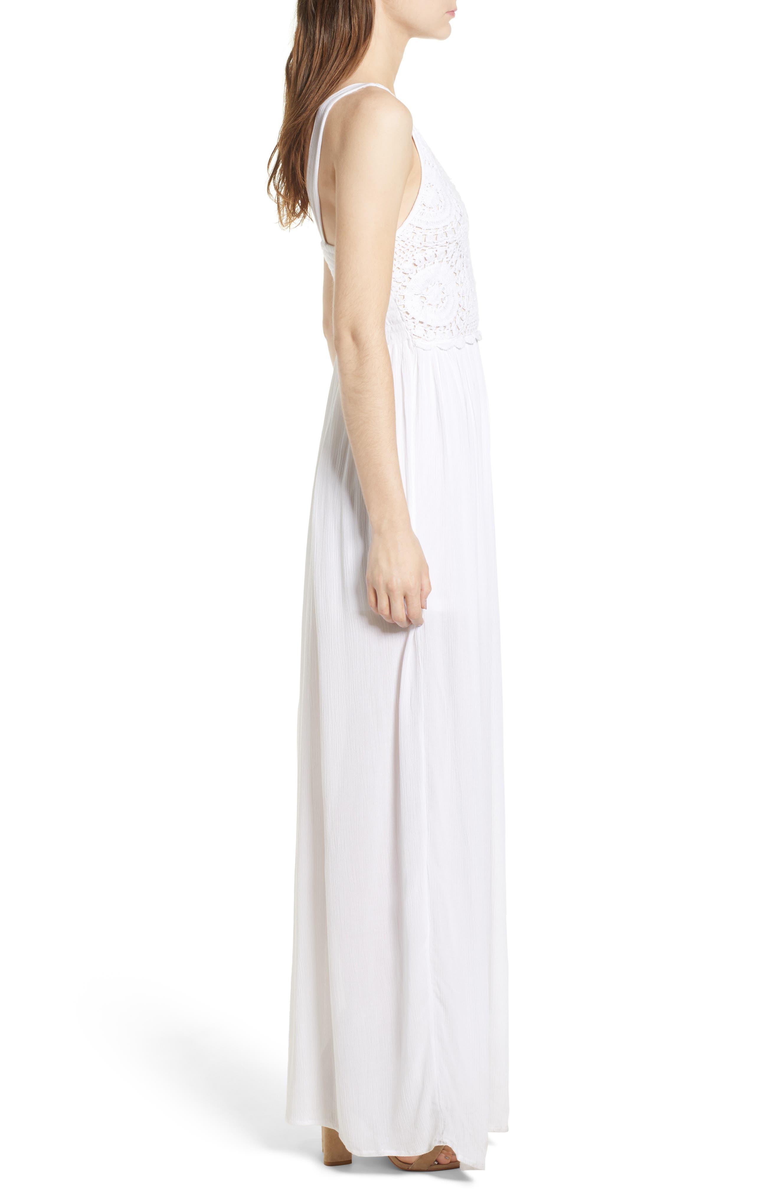 Bishop + Young Bora Bora Maxi Dress,                             Alternate thumbnail 3, color,                             White