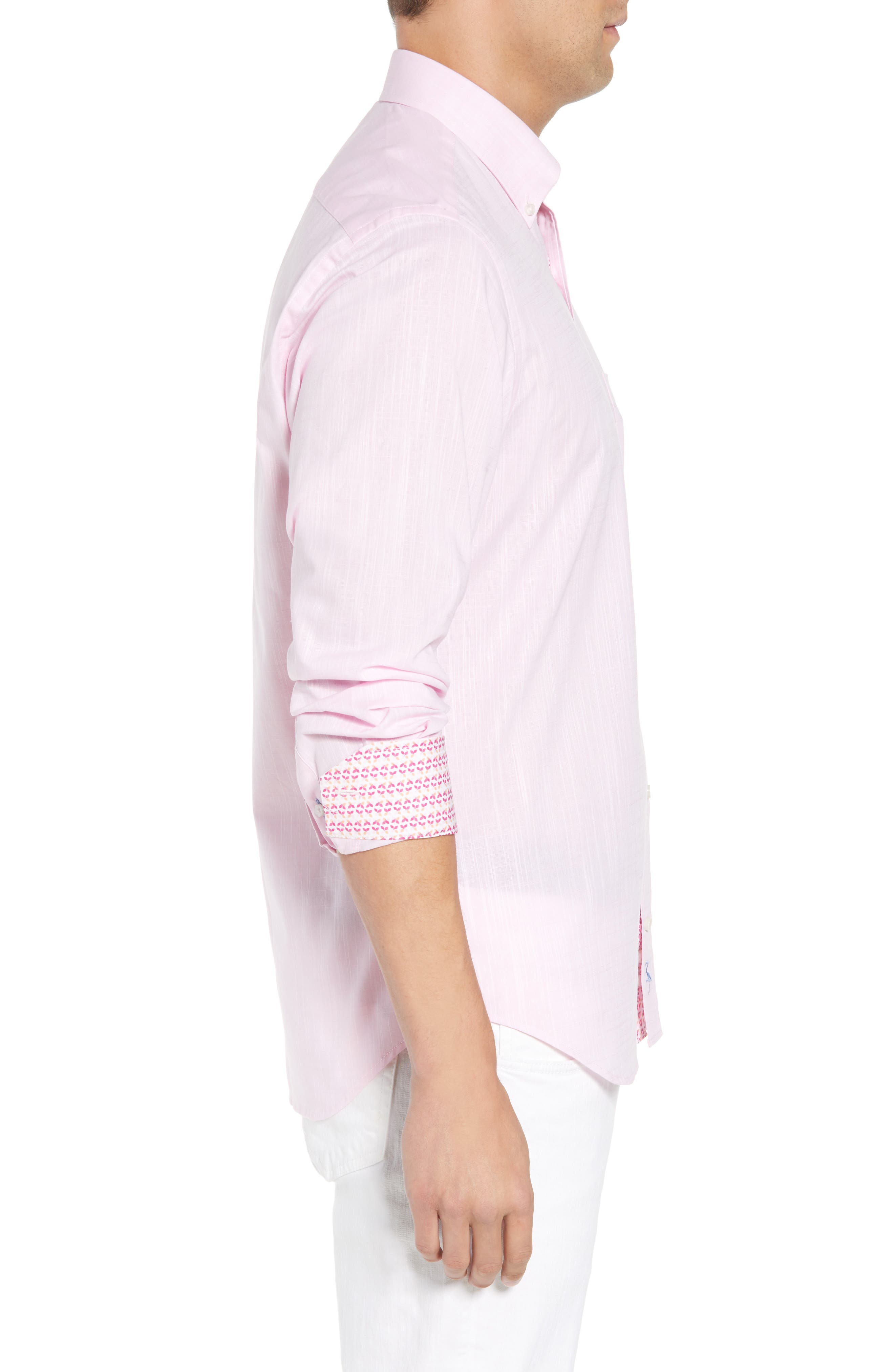 Kade Regular Fit Sport Shirt,                             Alternate thumbnail 4, color,                             Pink