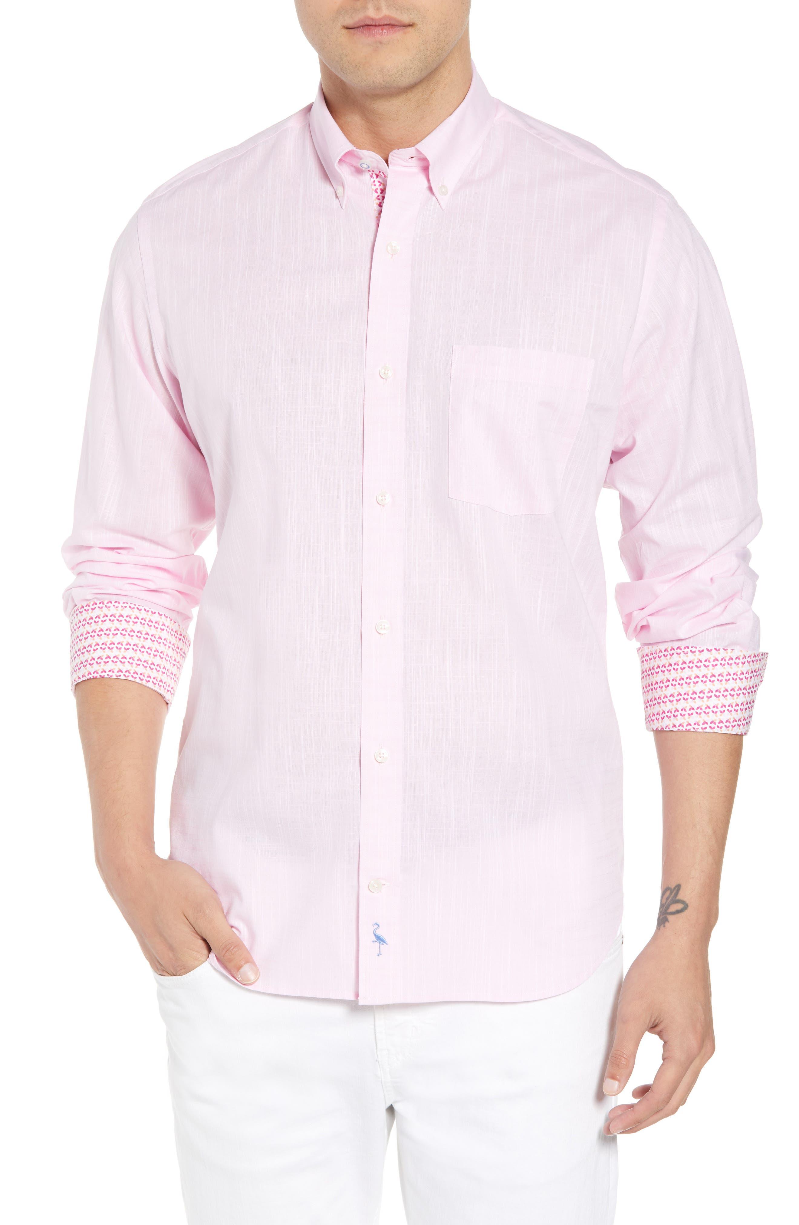 Kade Regular Fit Sport Shirt,                             Main thumbnail 1, color,                             Pink