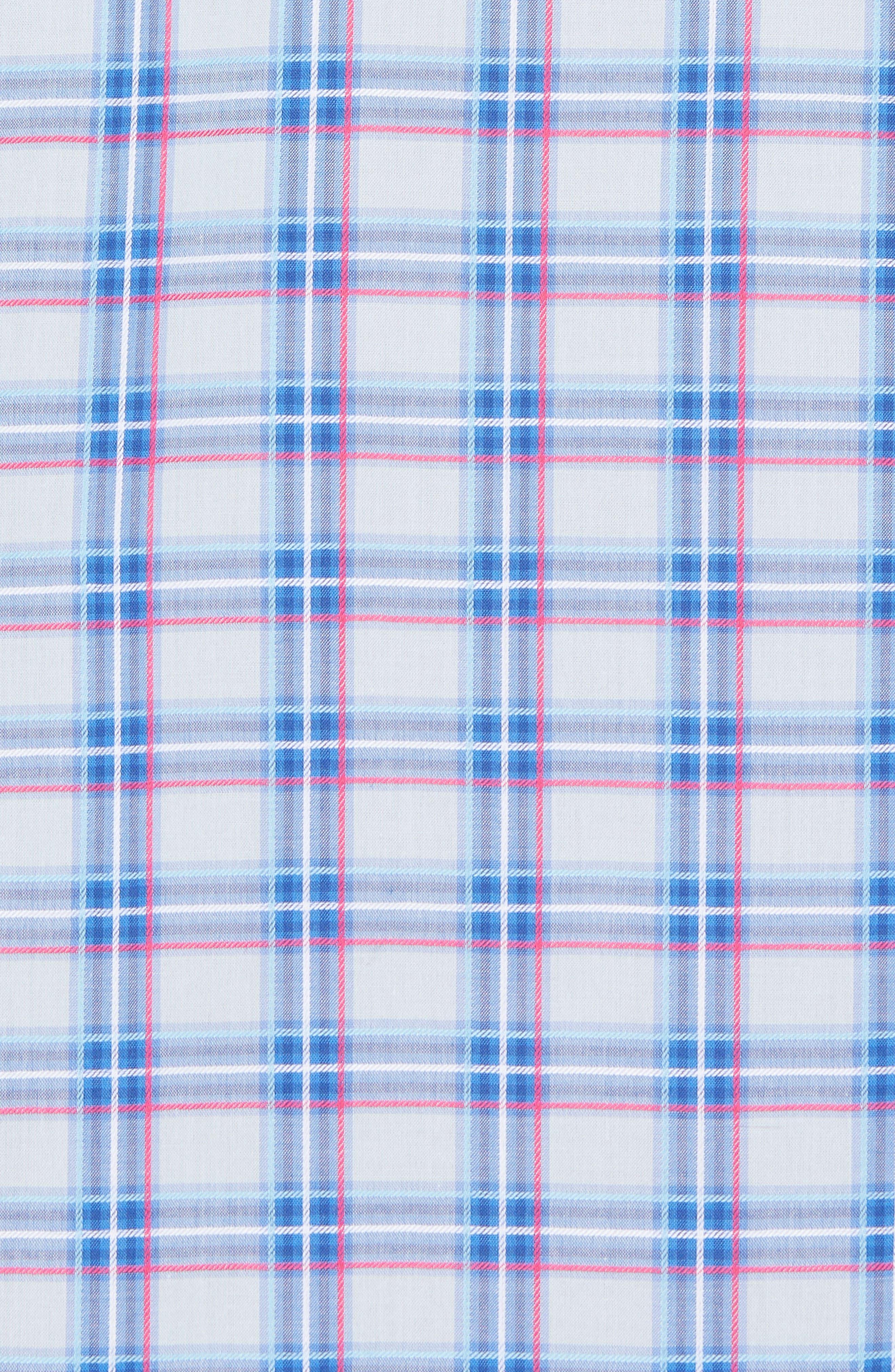 Alvaro Regular Fit Plaid Sport Shirt,                             Alternate thumbnail 5, color,                             Light Blue