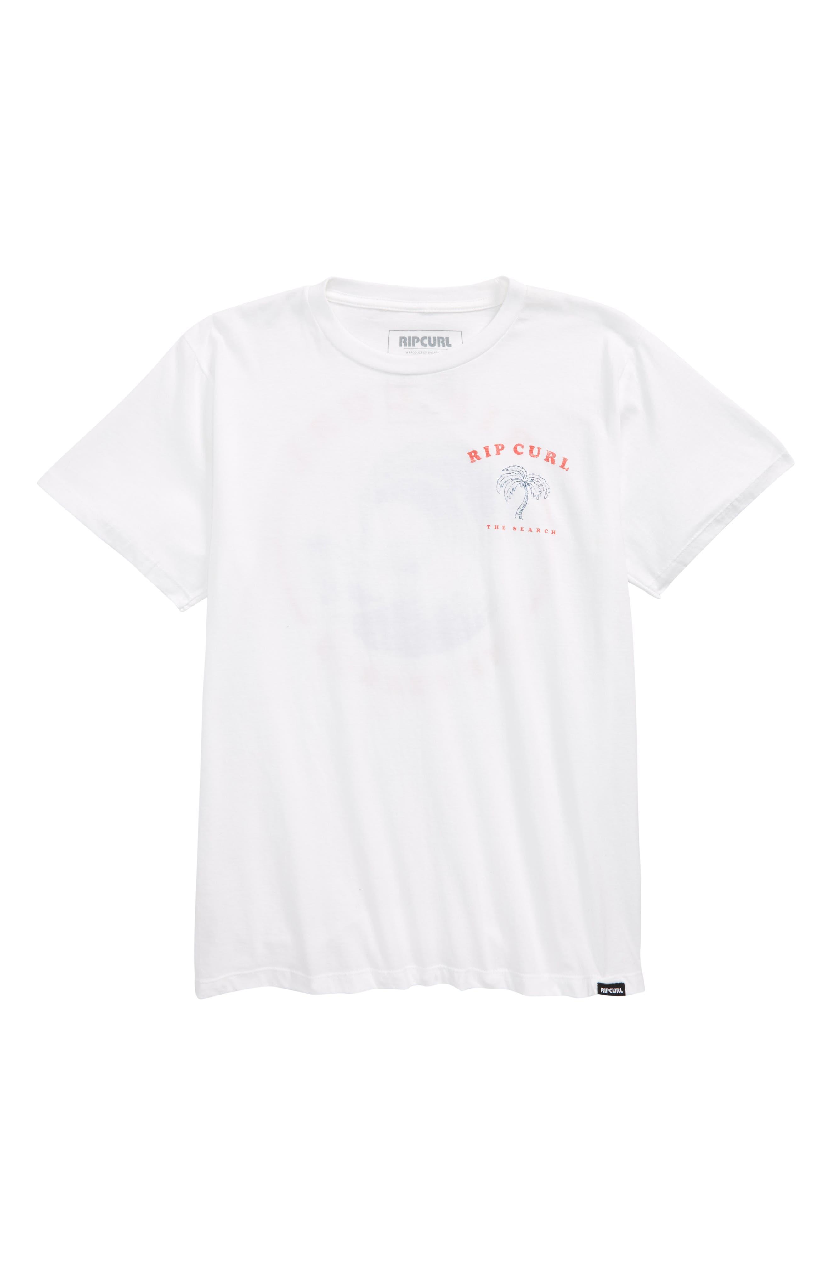 Beach Break Graphic T-Shirt,                             Main thumbnail 1, color,                             White