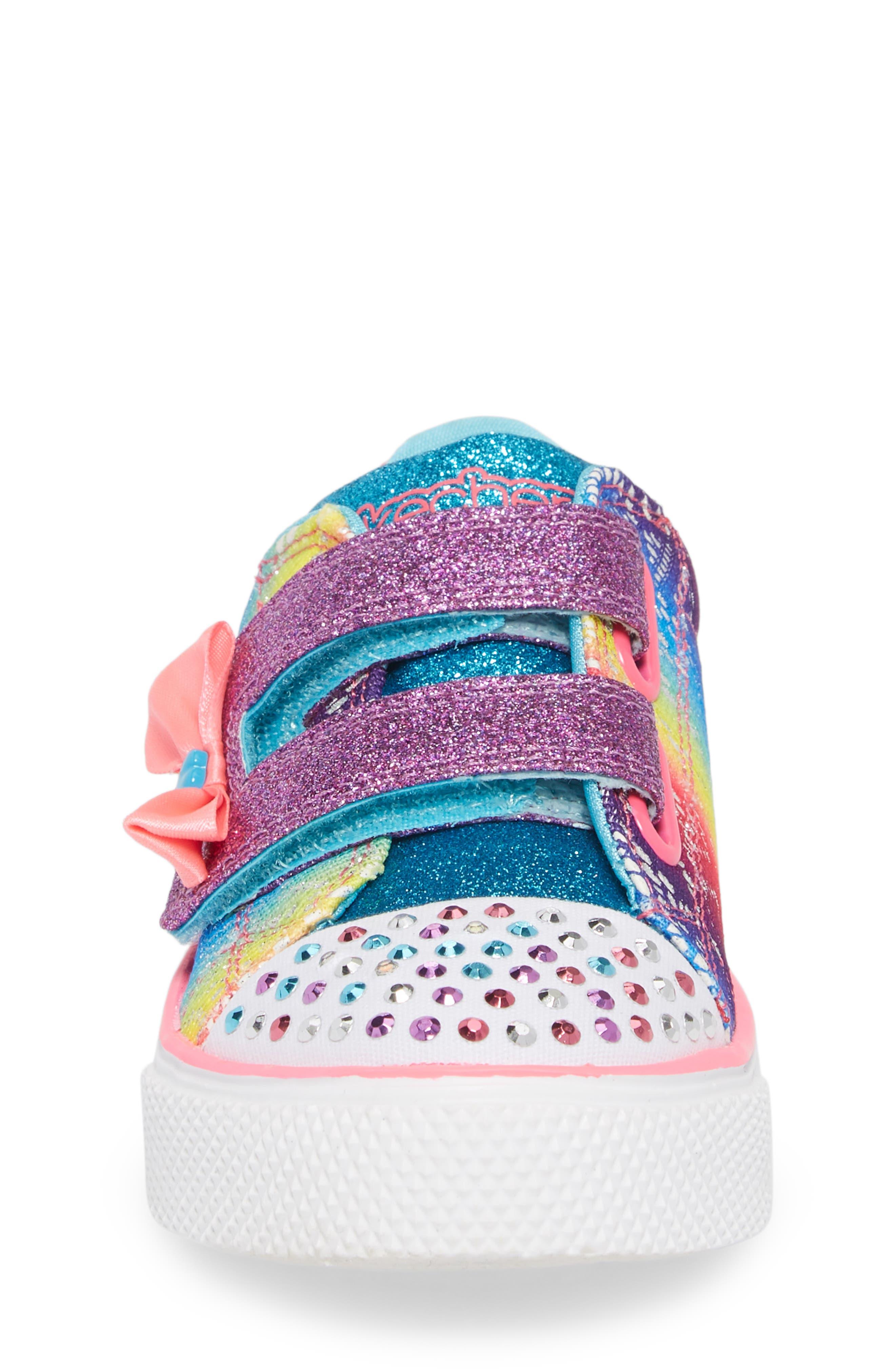 Twinkle Toes Breeze 2.0 Light-Up Sneaker,                             Alternate thumbnail 4, color,                             Multi