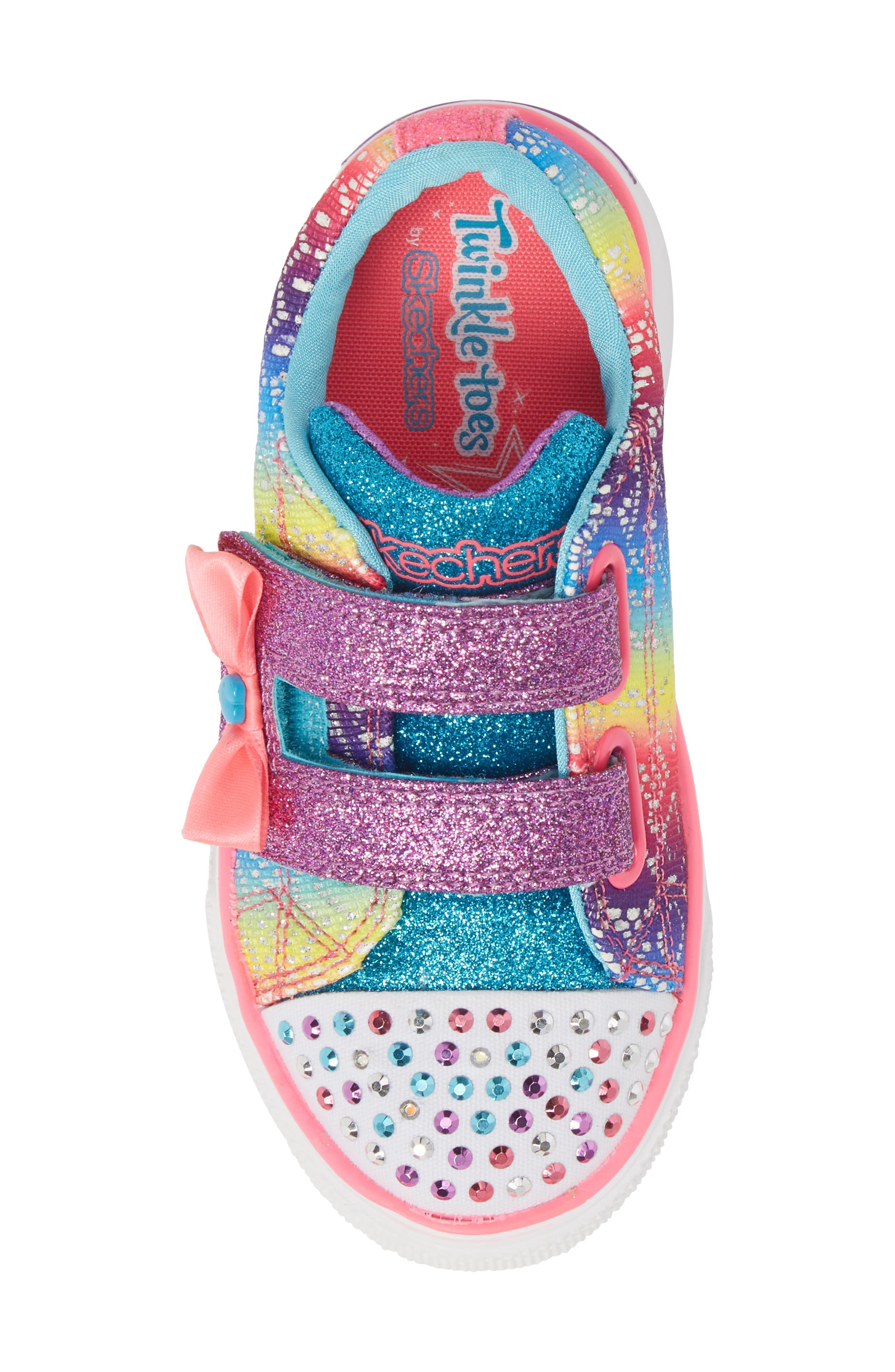 Twinkle Toes Breeze 2.0 Light-Up Sneaker,                             Alternate thumbnail 5, color,                             Multi