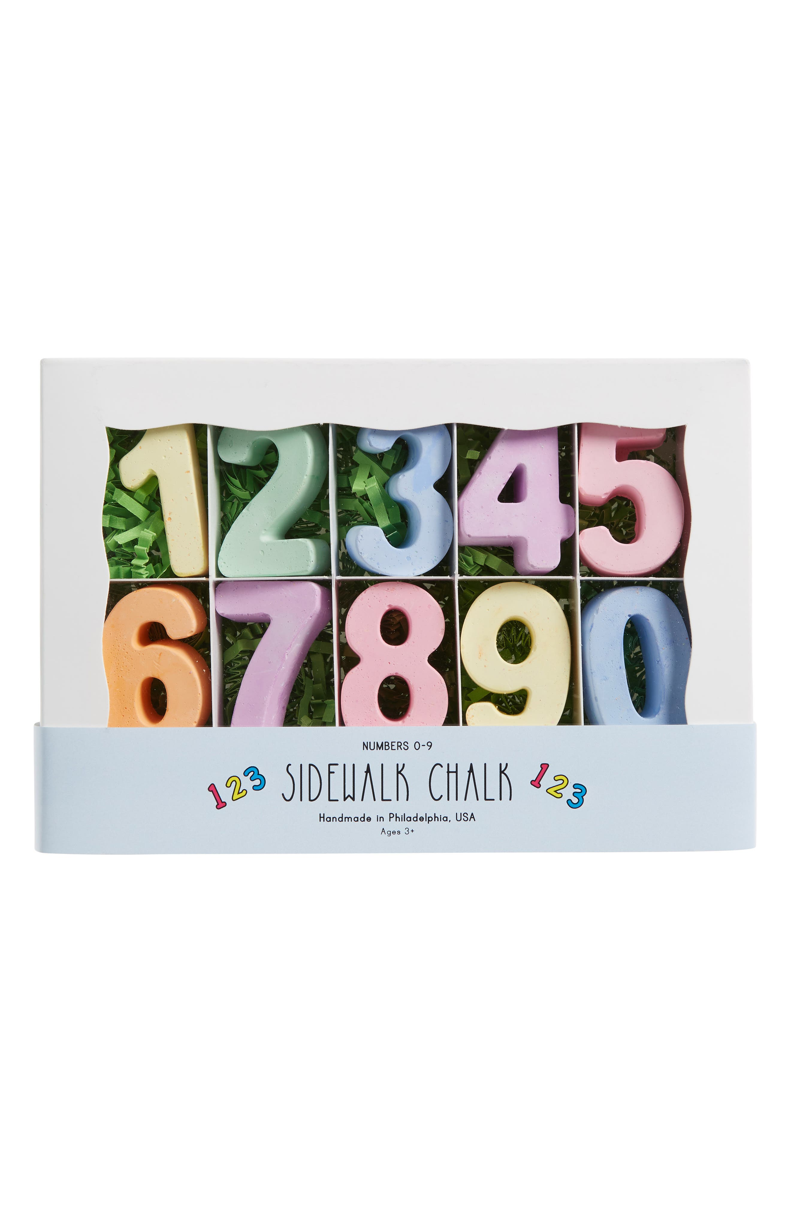 10-Piece Numbers Sidewalk Chalk Set,                         Main,                         color, Assorted Colors