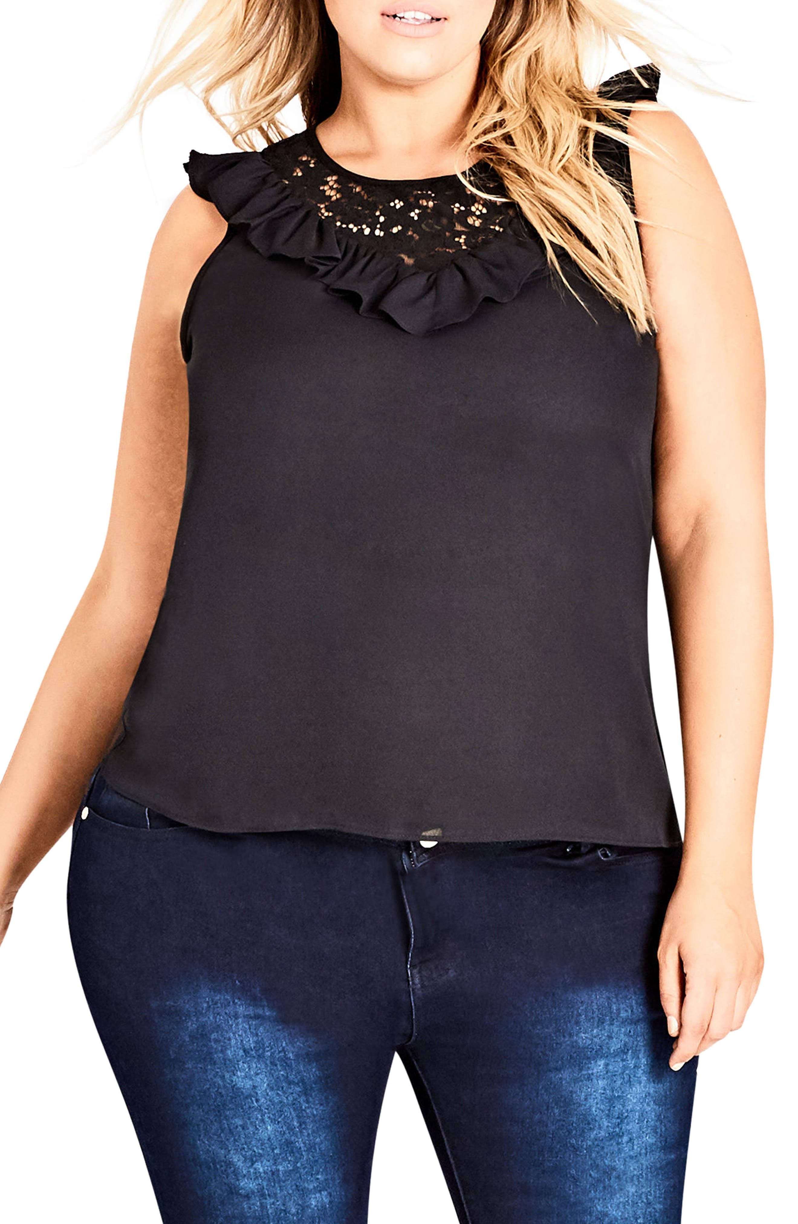 City Chic Lace Romance Top (Plus Size)