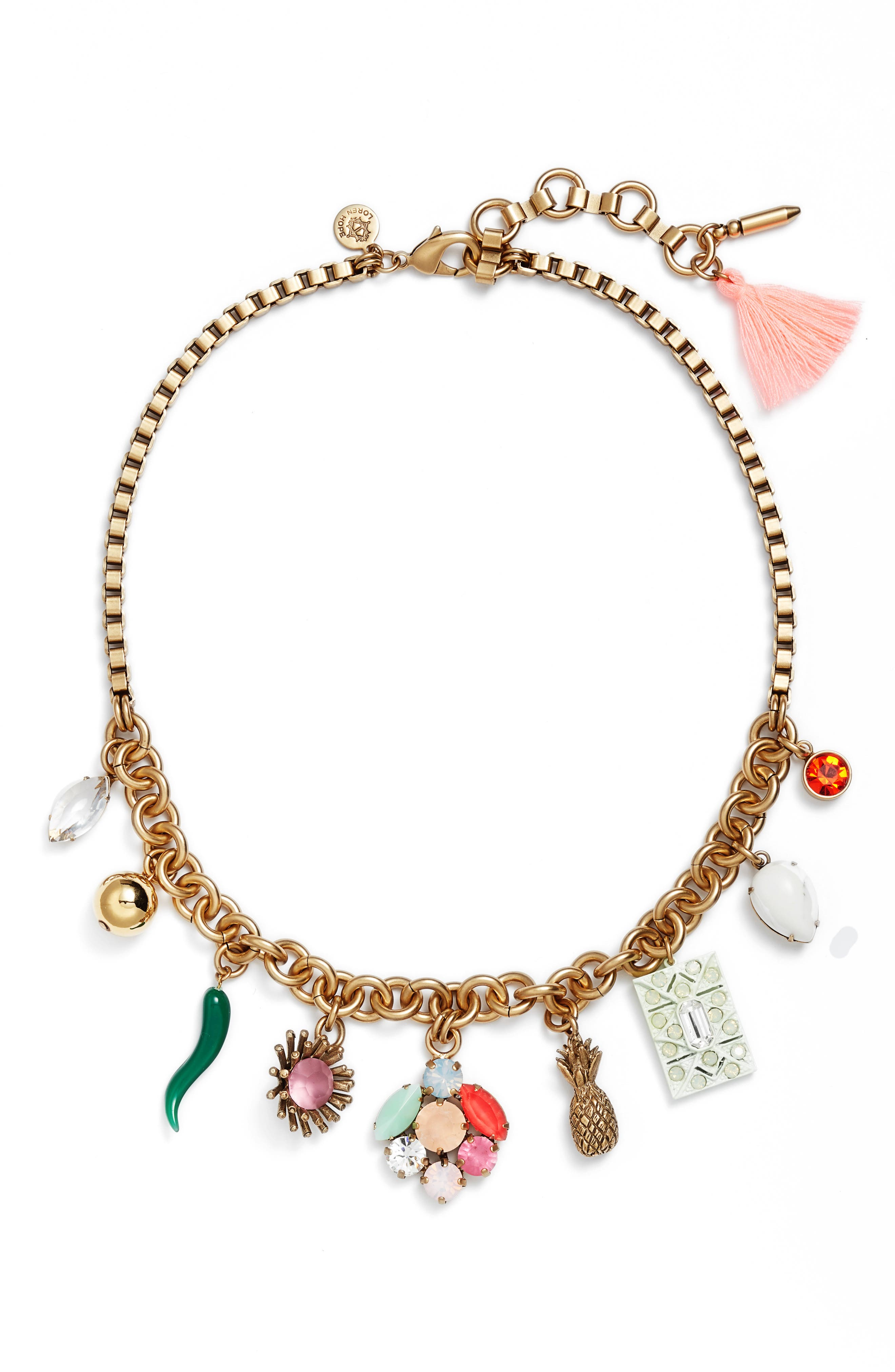 Ophelia Statement Necklace,                         Main,                         color, Gold Multi