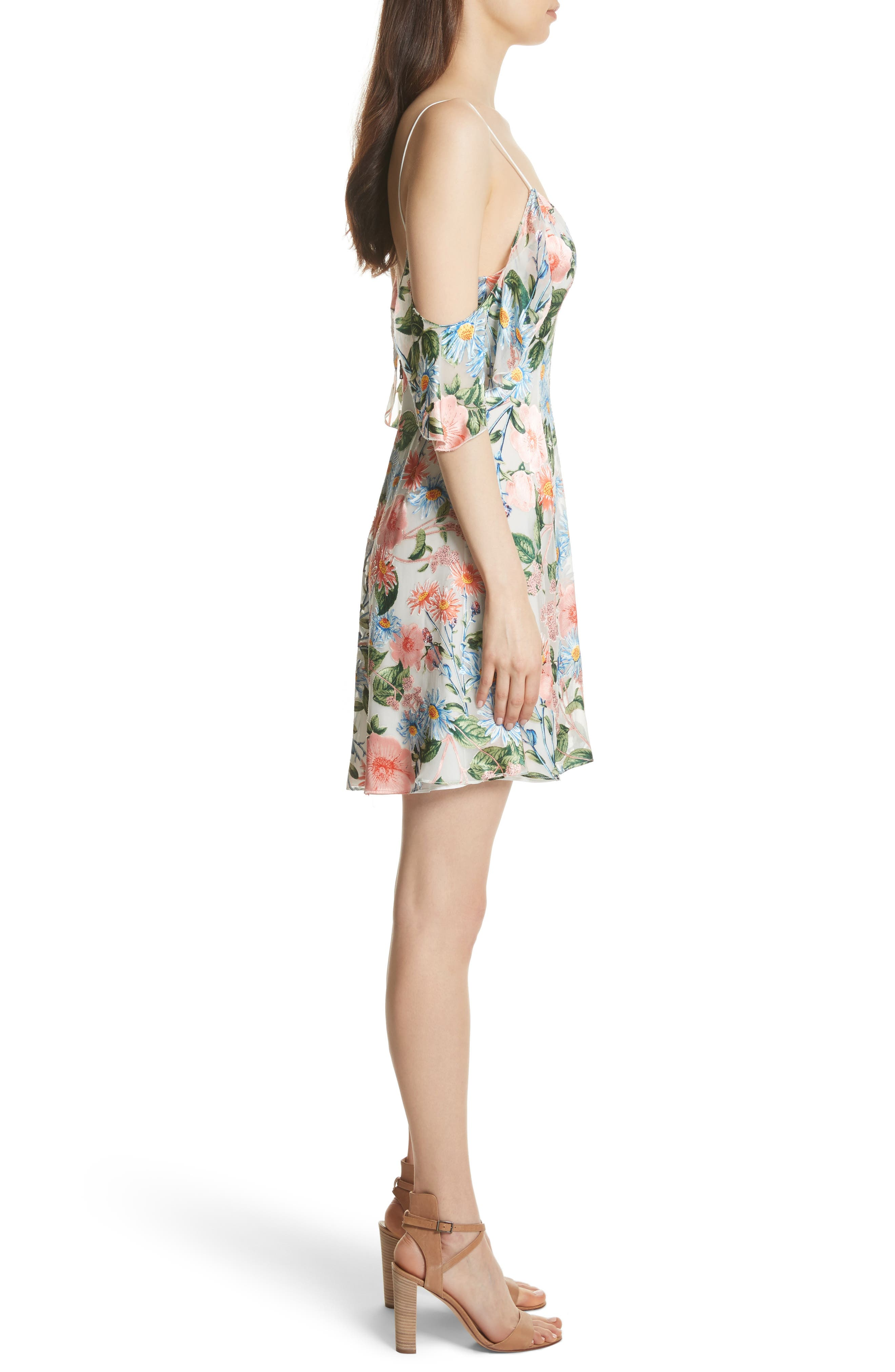 Alternate Image 3  - Alice + Olivia Alves Floral Cold Shoulder Dress