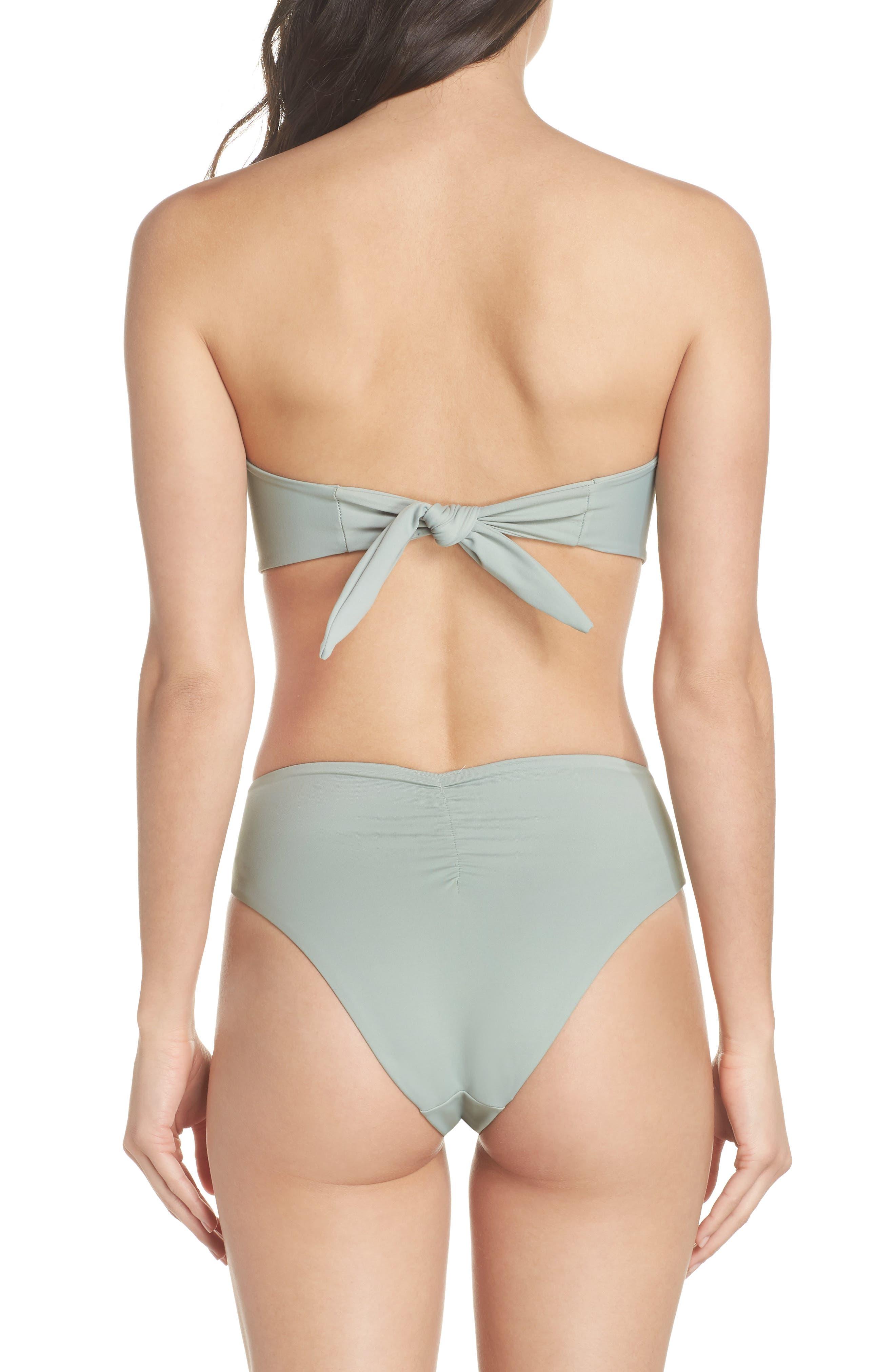 Paula Tie-Up Bikini Bottoms,                             Alternate thumbnail 6, color,                             Pistache Green