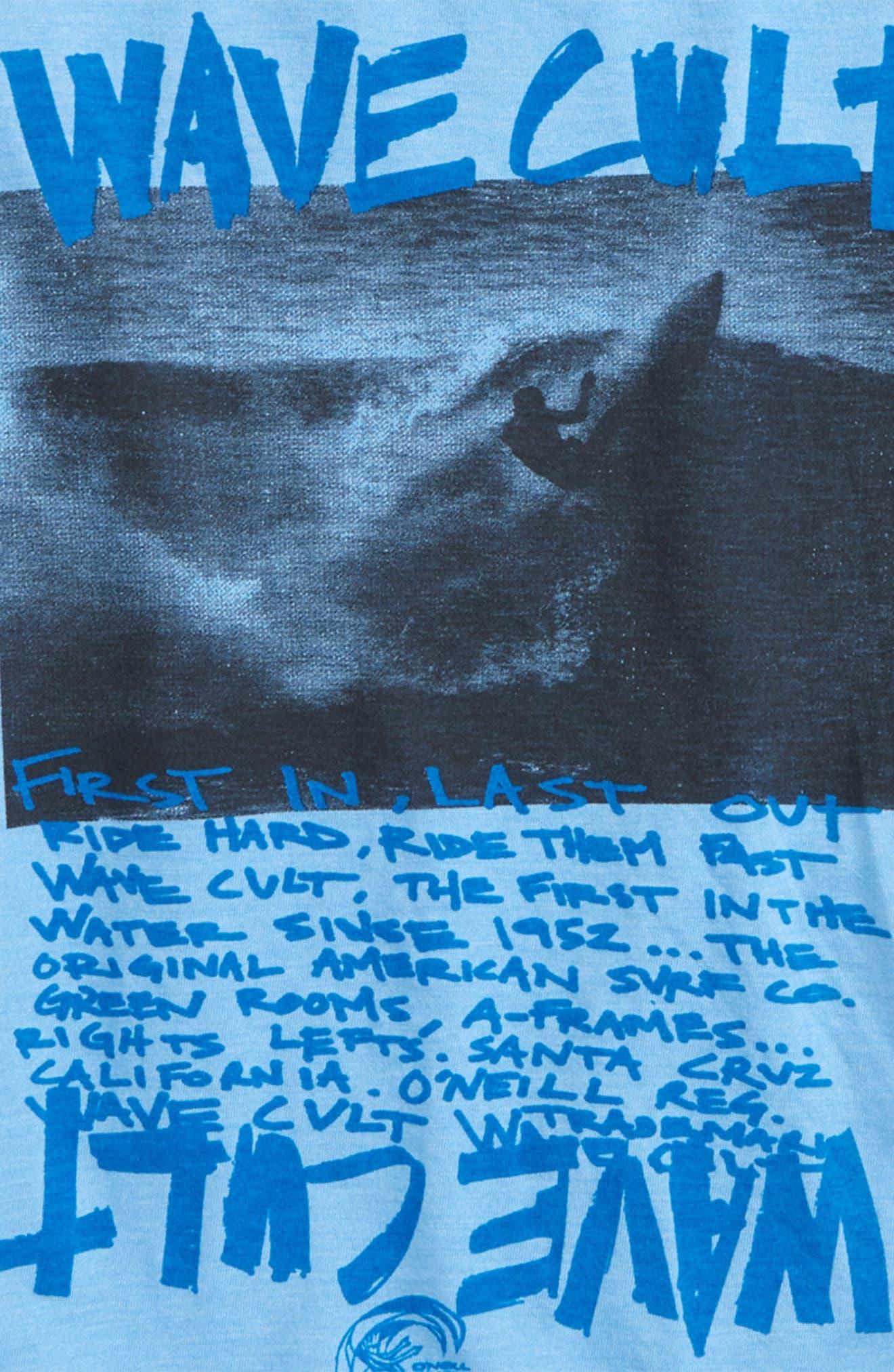 Wave Cult T-Shirt,                             Alternate thumbnail 2, color,                             Light Blue Heather