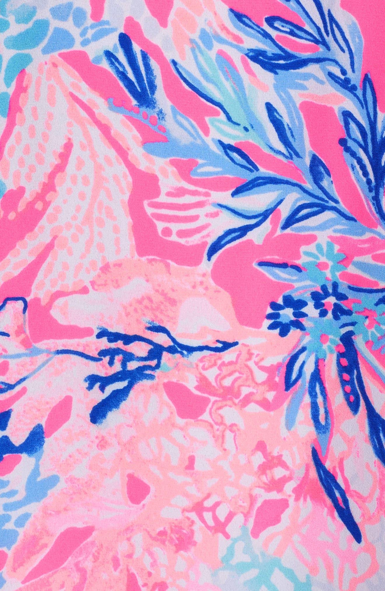 Lexi Shift Dress,                             Alternate thumbnail 5, color,                             Light Pascha Pink Aquadesiac