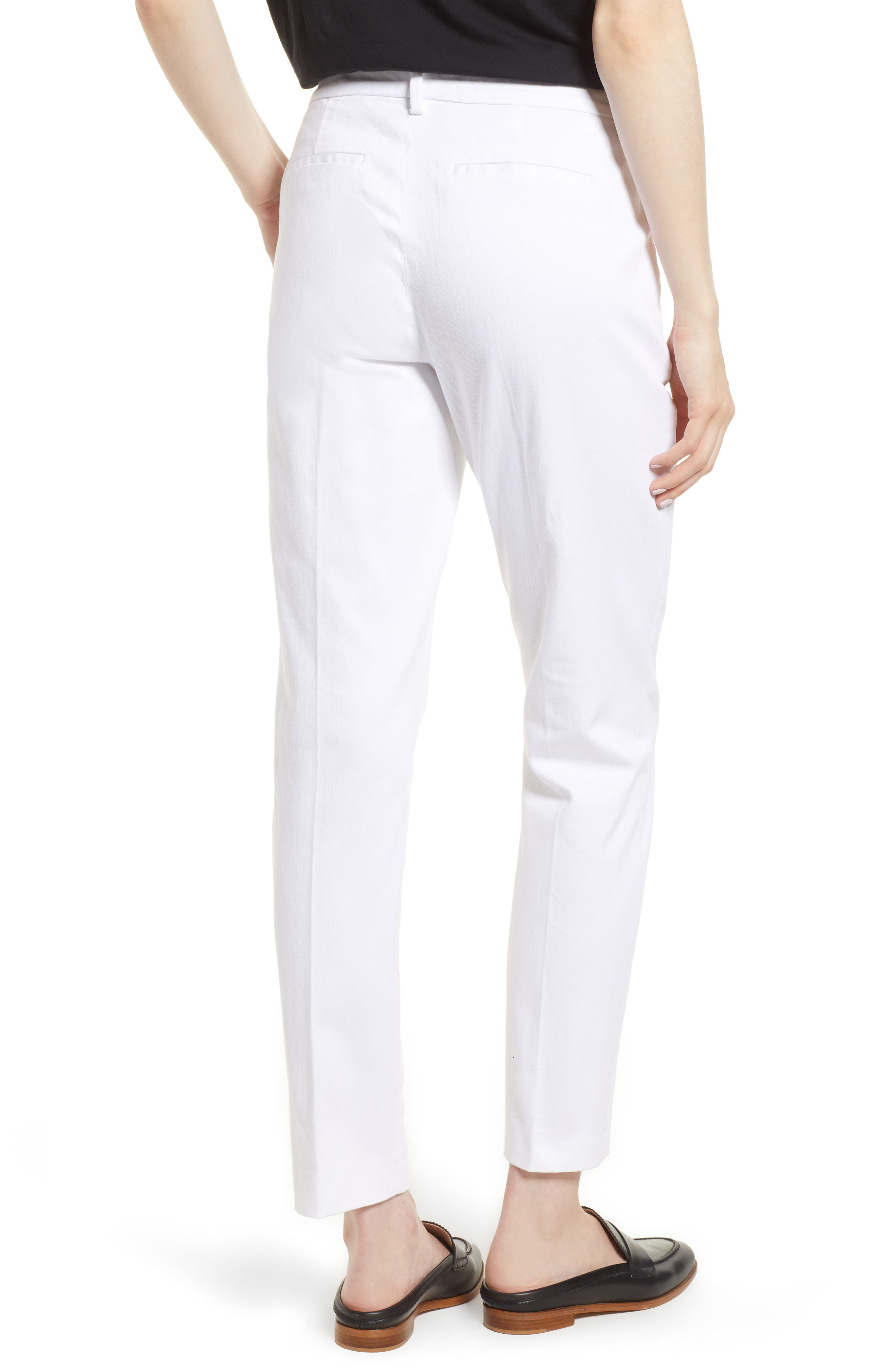 Kelsey Trousers,                             Alternate thumbnail 2, color,                             Bright White