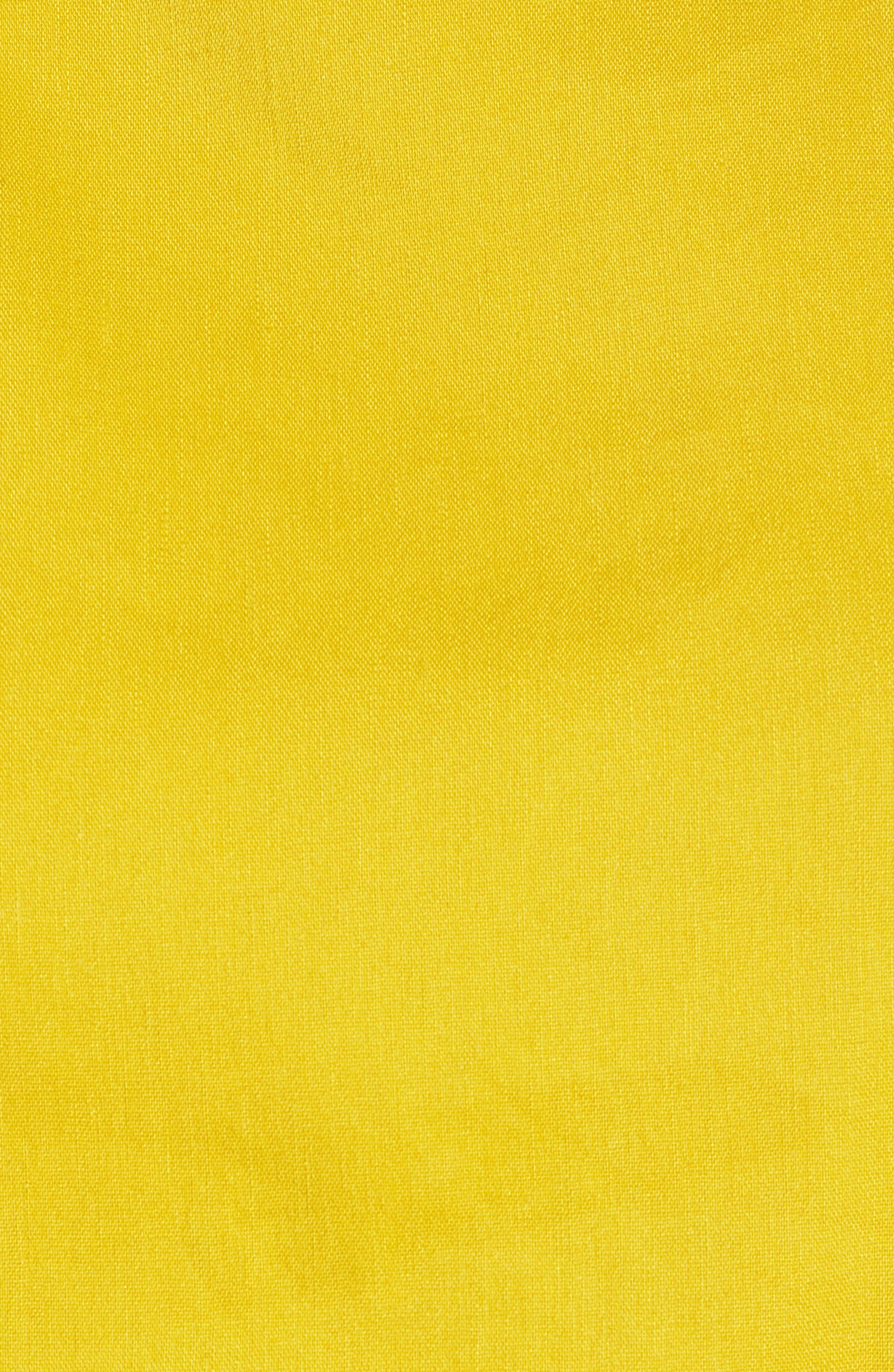 Linen Cami,                             Alternate thumbnail 6, color,                             Yellow Tea