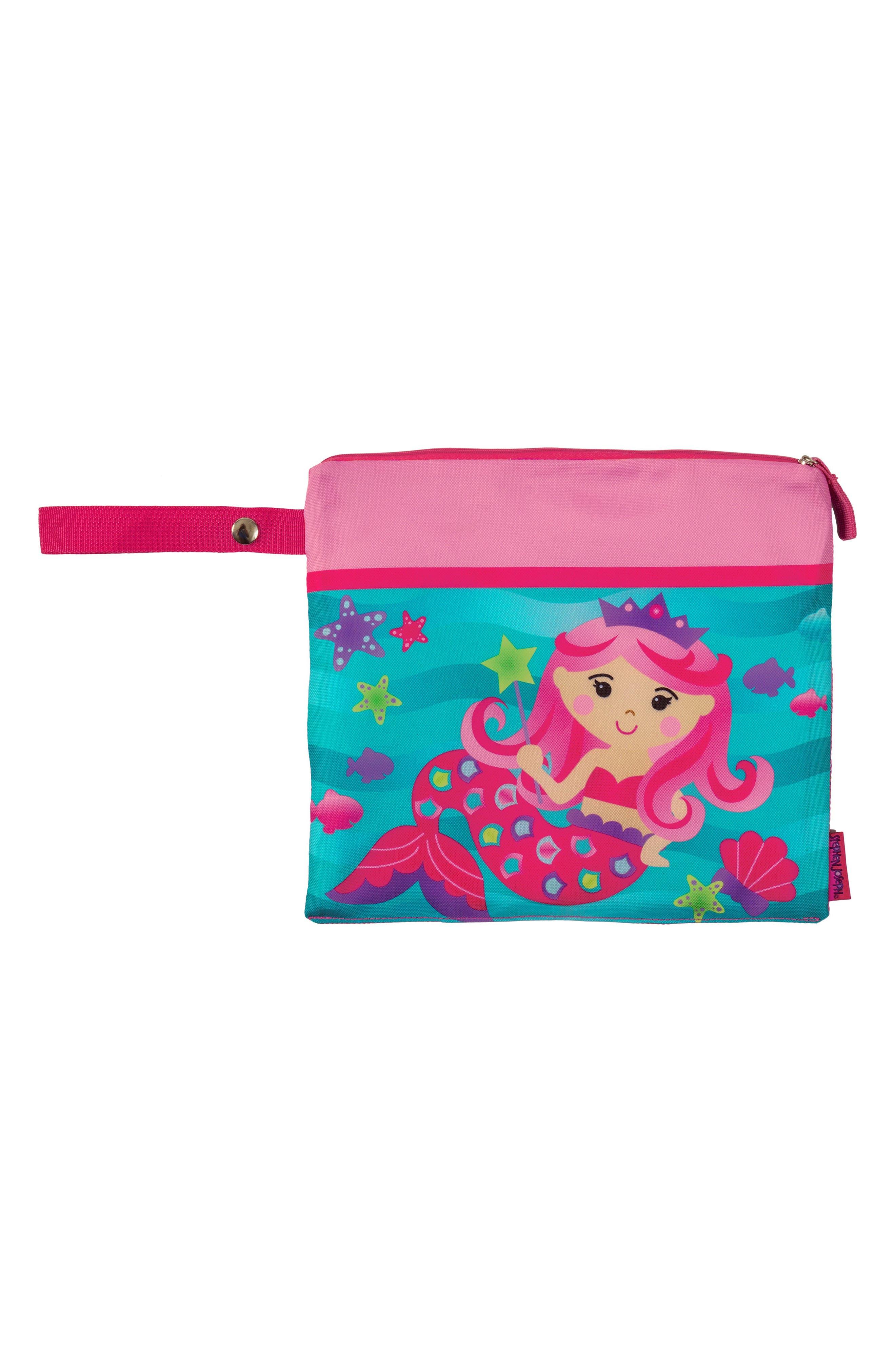 Bag, Hooded Towel & Goggles,                             Alternate thumbnail 6, color,                             Pink Mermaid