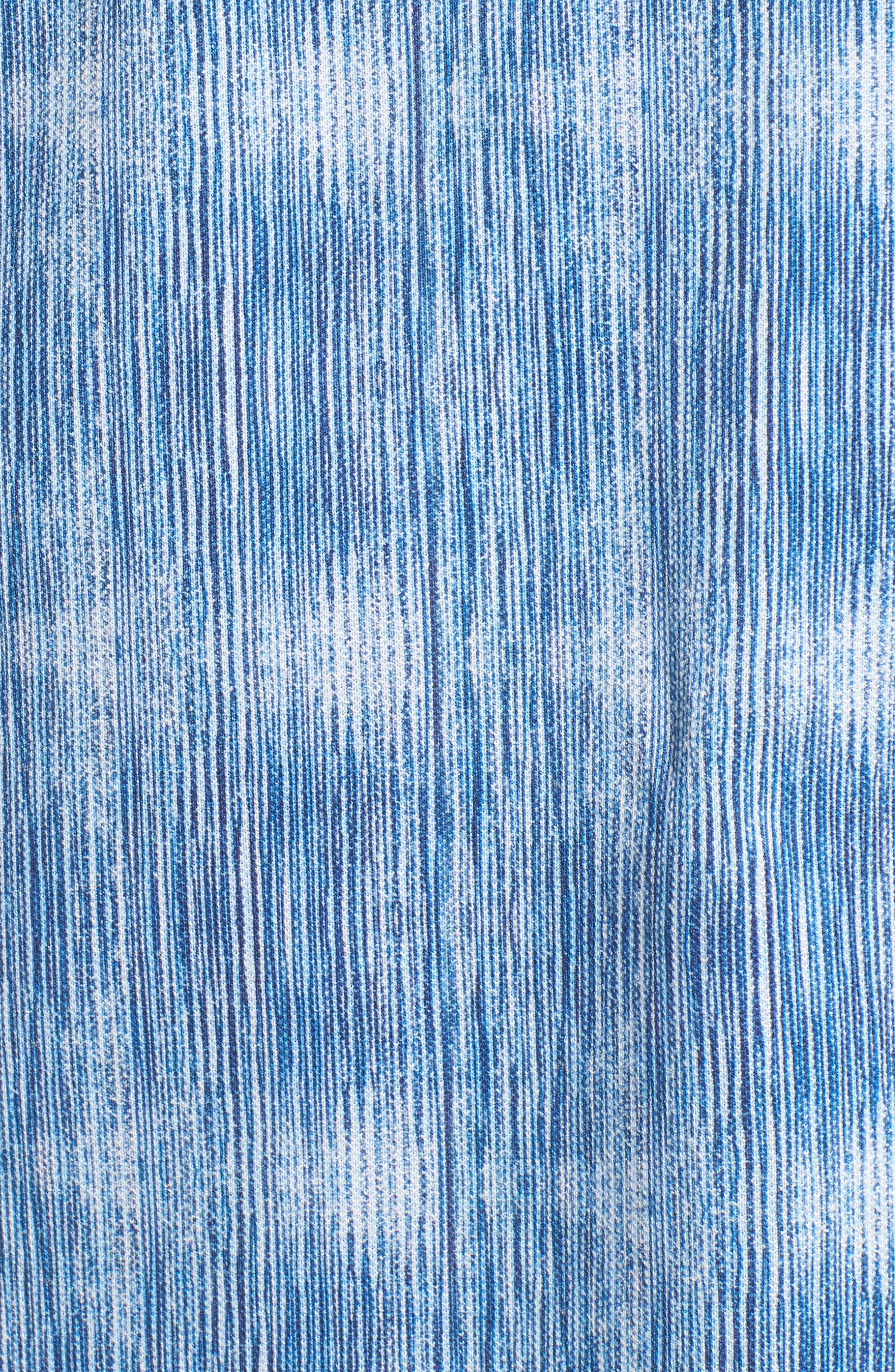 Print Piqué Polo,                             Alternate thumbnail 5, color,                             Classic Blue