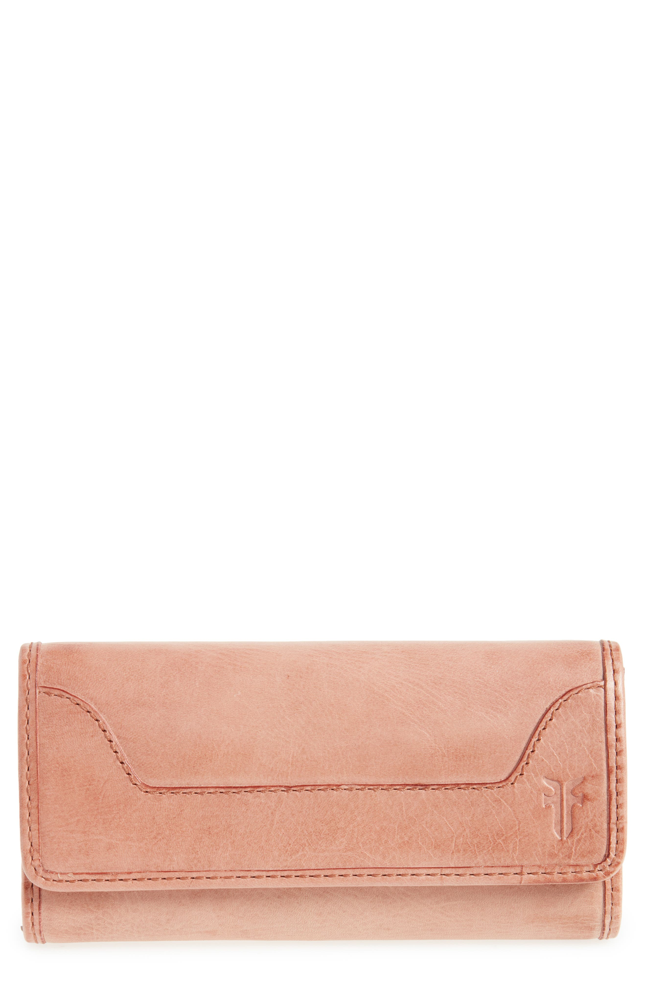 'Melissa' Continental Wallet,                         Main,                         color, Dusty Rose