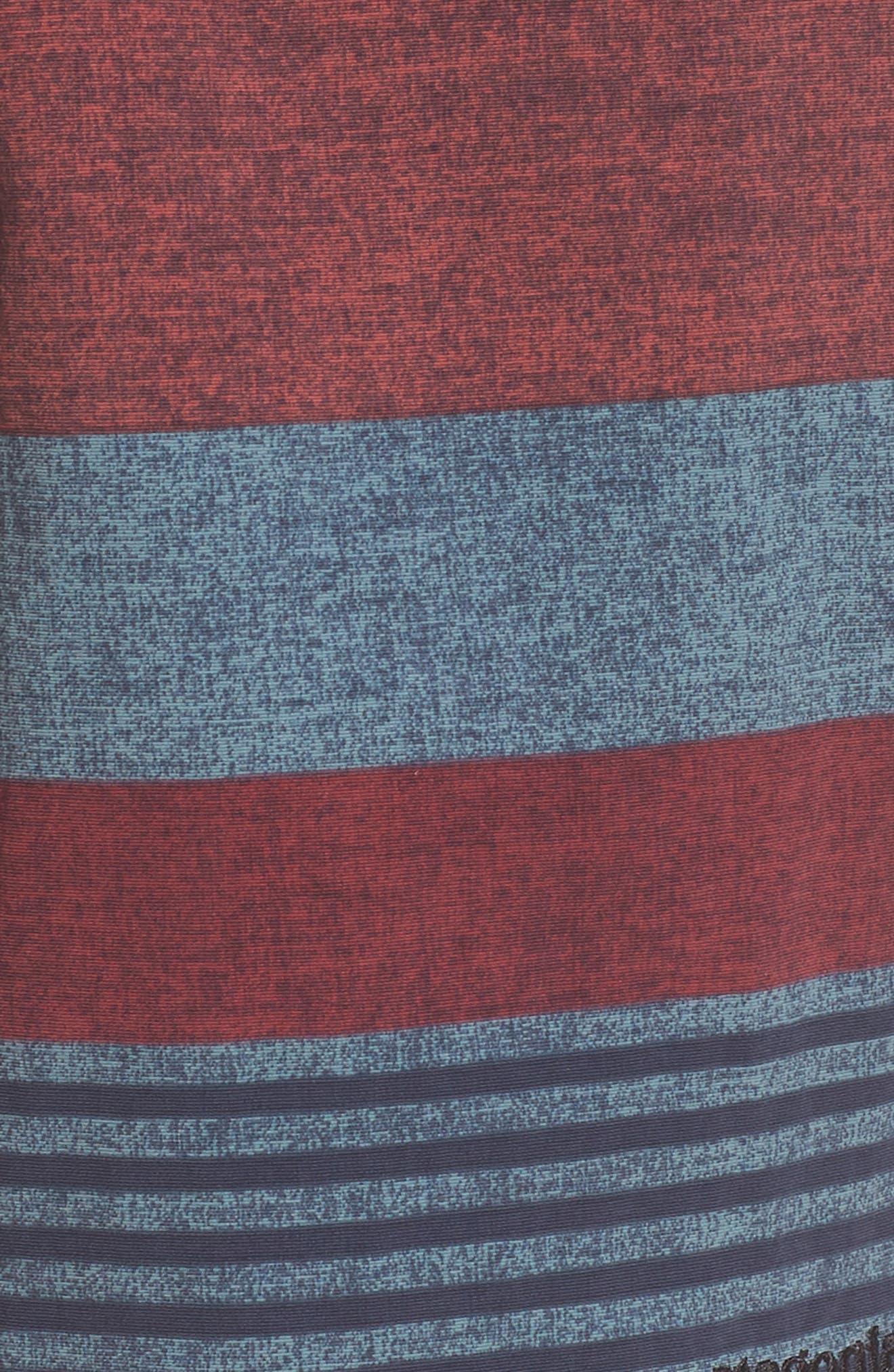 Wavefarer Board Shorts,                             Alternate thumbnail 3, color,                             Fitz Stripe: Kiln Pink
