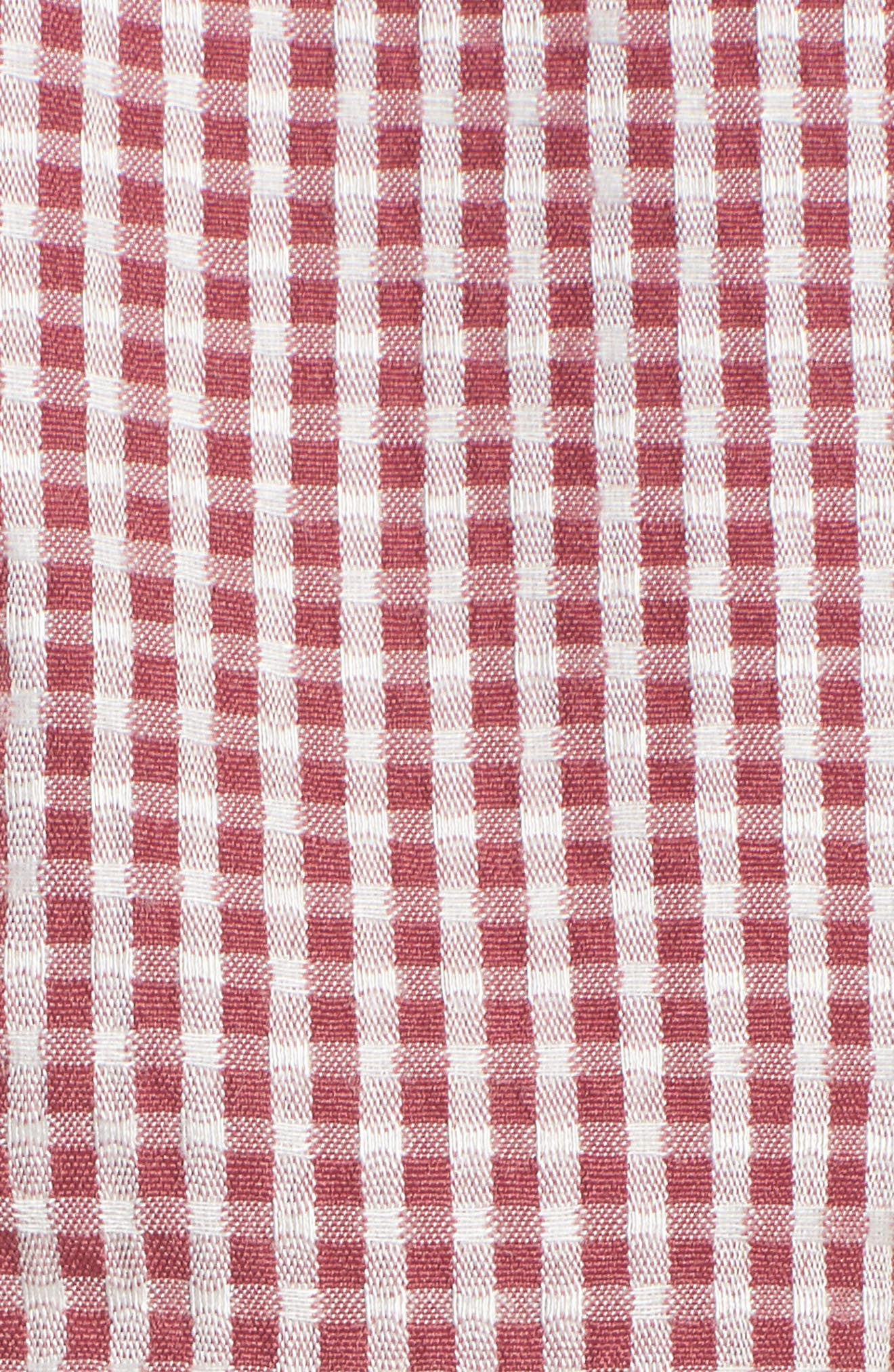 Digby Tie Front Crop Top,                             Alternate thumbnail 7, color,                             Red Gingham