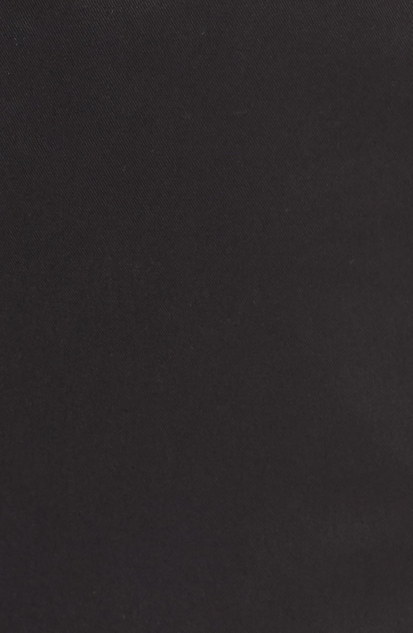 High Rise Tencel Shorts,                             Alternate thumbnail 5, color,                             Black
