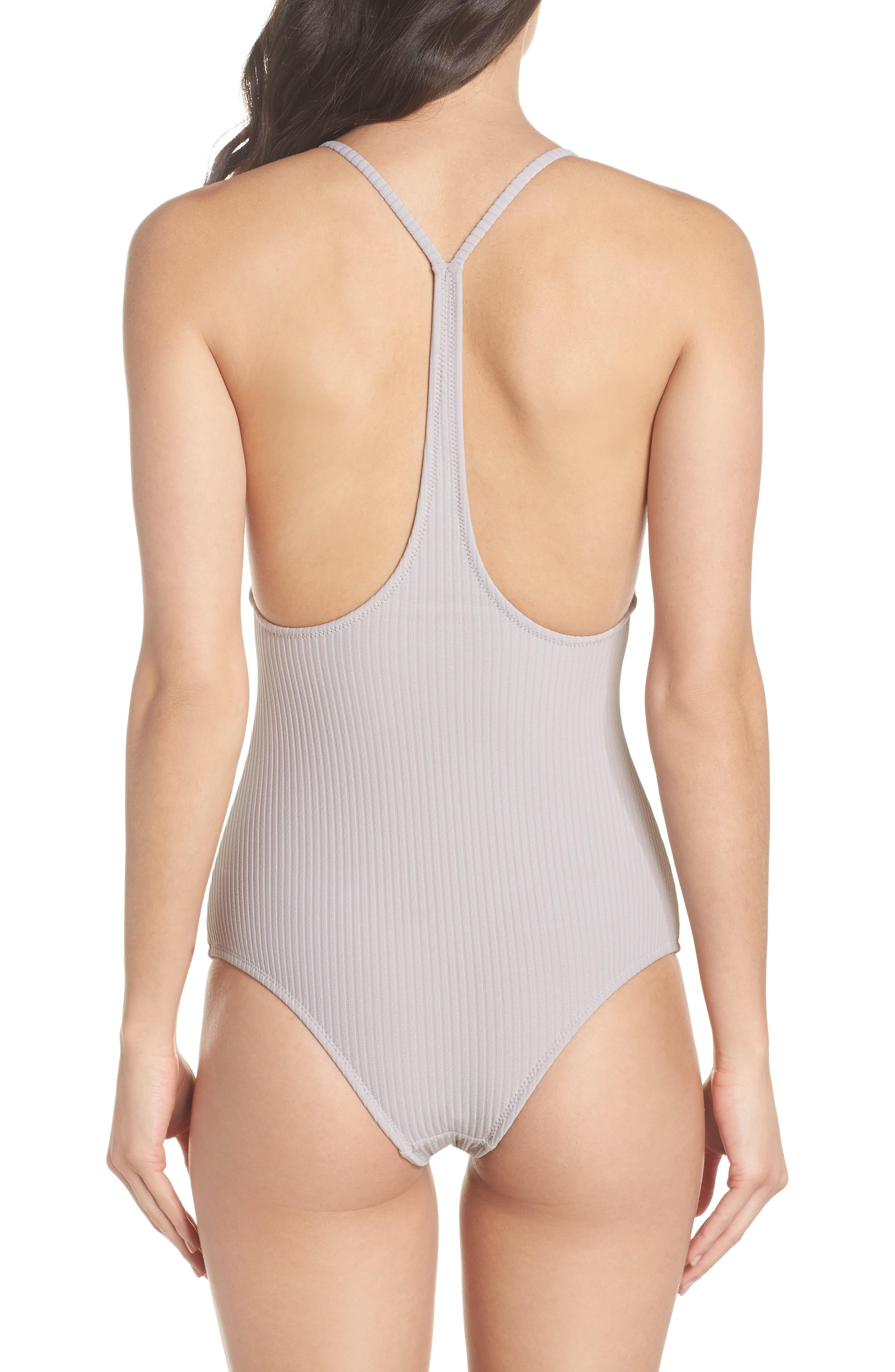 Traveler One-Piece Swimsuit,                             Alternate thumbnail 2, color,                             Dove Rib