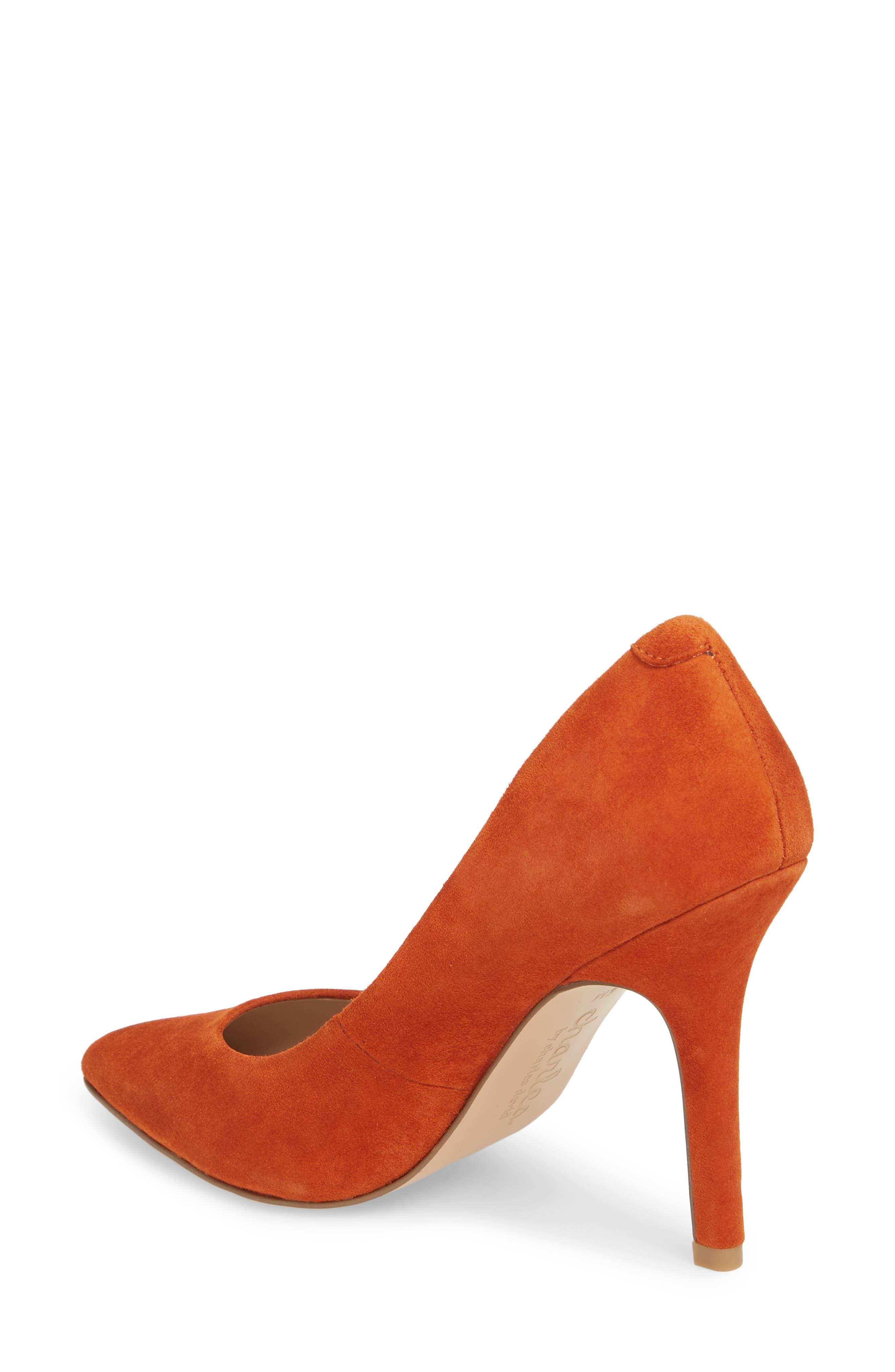 Maxx Pointy Toe Pump,                             Alternate thumbnail 2, color,                             Orange Suede