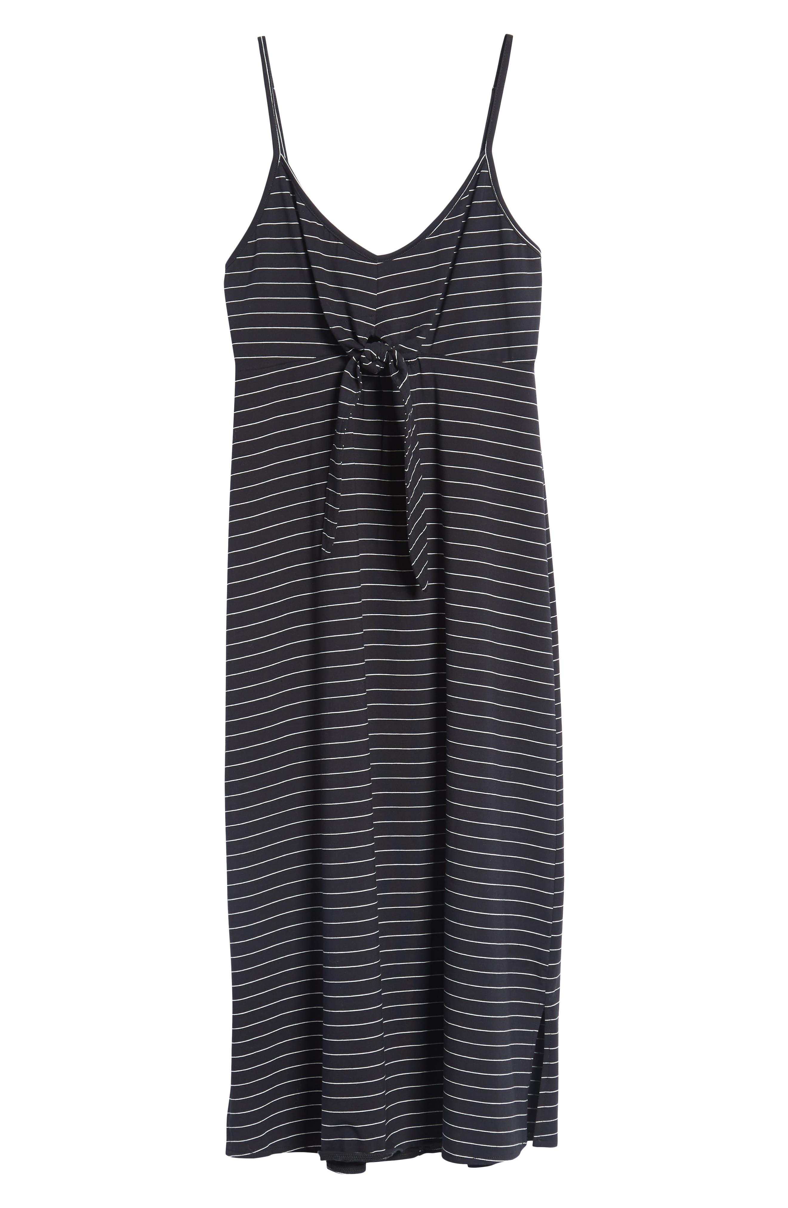 Suzanne Knot Front Dress,                             Alternate thumbnail 8, color,                             Black