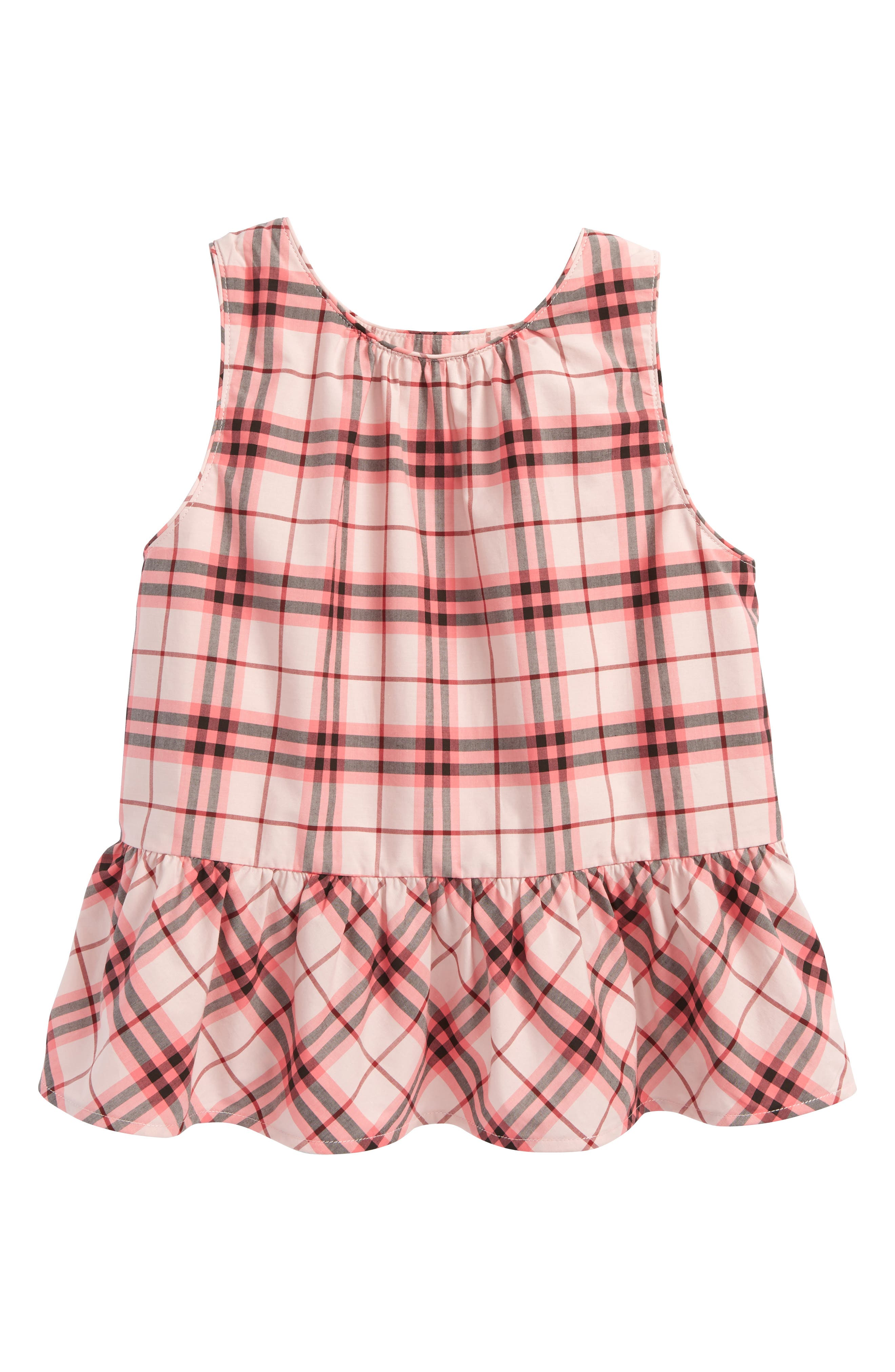 Burberry Carma Check Top (Toddler Girls)