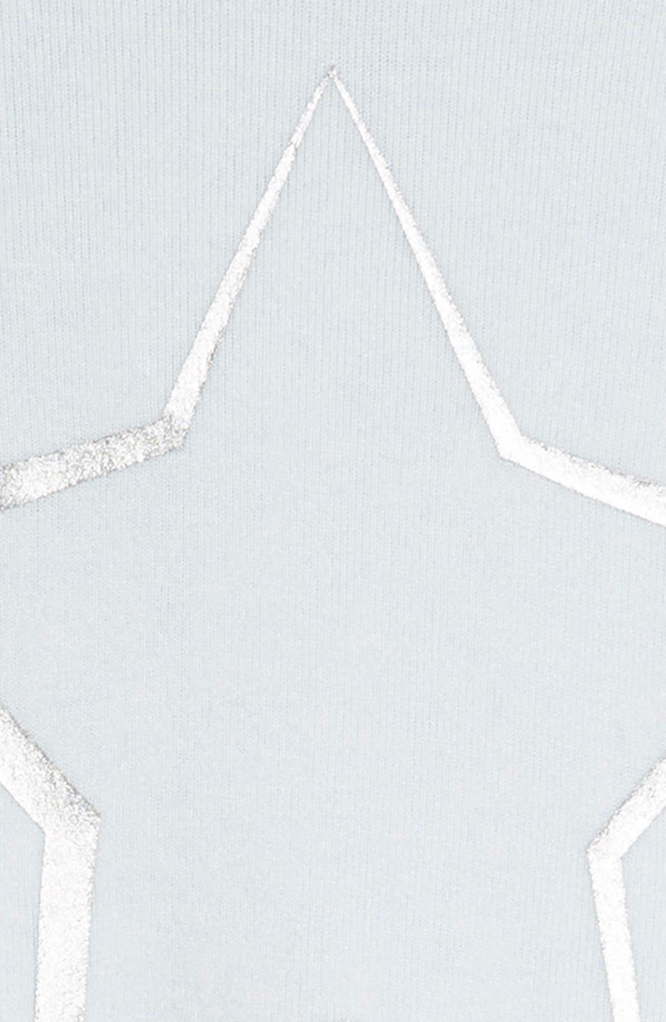 Cozy Hooded Dress,                             Alternate thumbnail 3, color,                             Blue Drift Star
