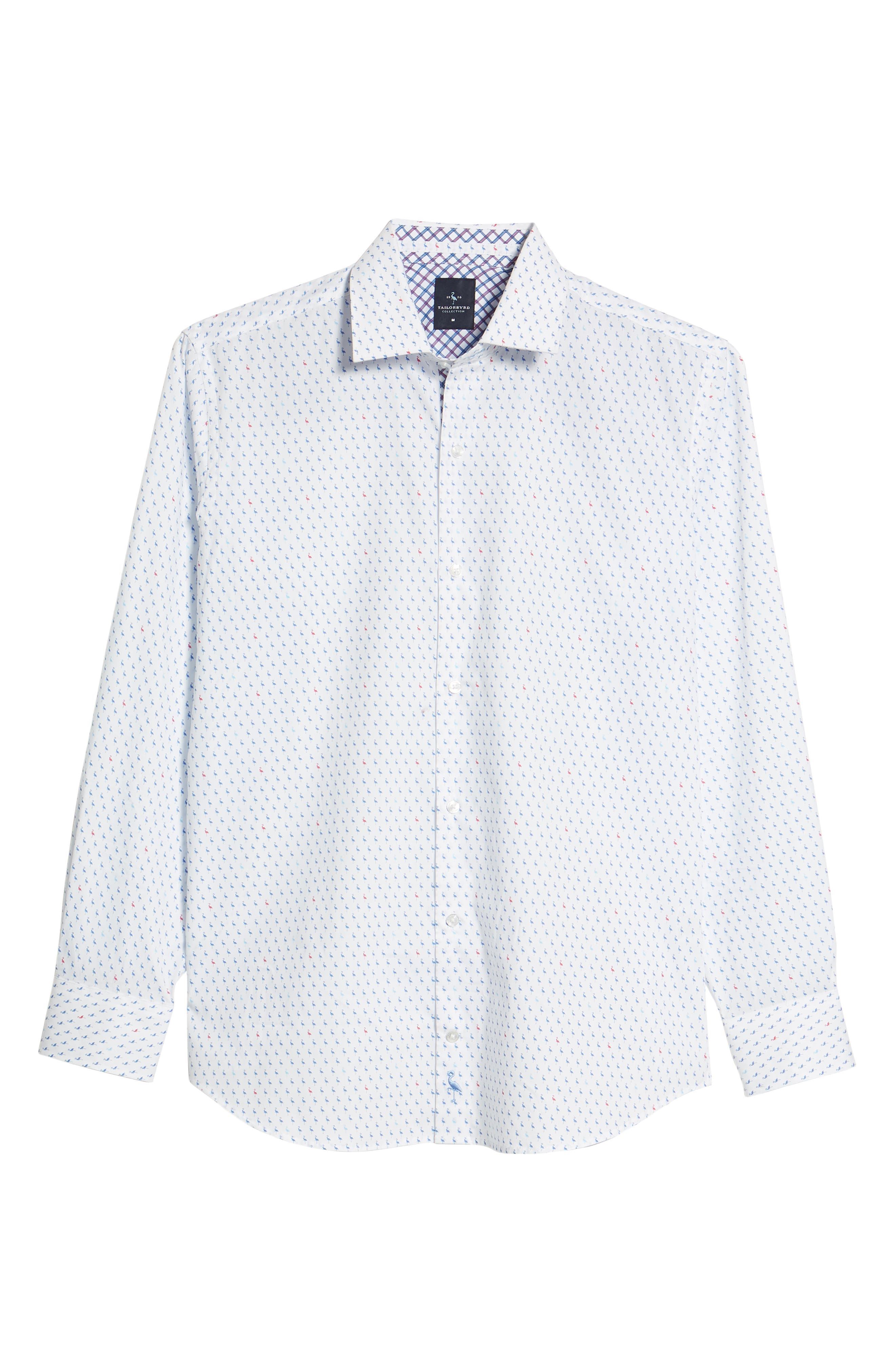 Auden Regular Fit Print Sport Shirt,                             Alternate thumbnail 6, color,                             Peri Blue