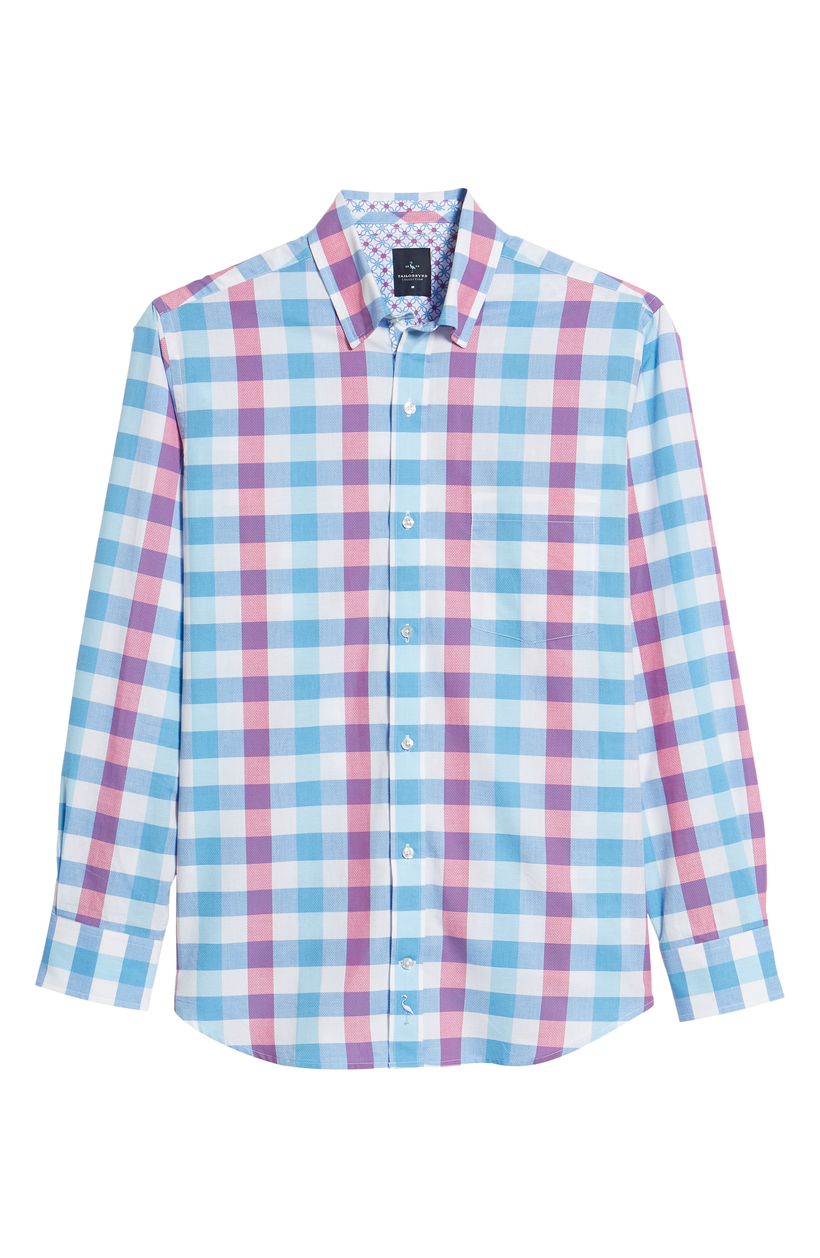 Bazel Regular Fit Check Sport Shirt,                             Alternate thumbnail 6, color,                             Light Blue