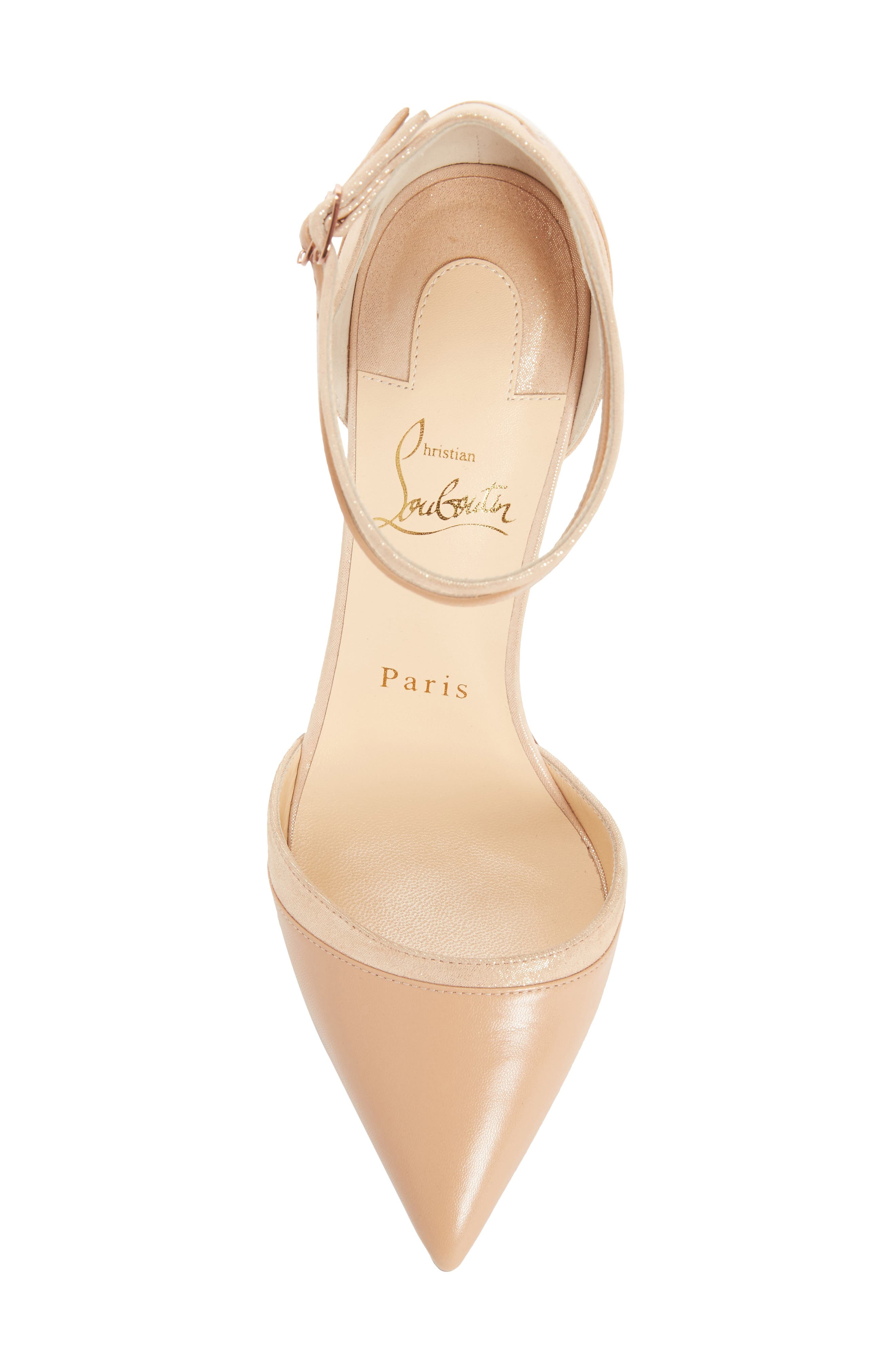 Uptown Ankle Strap Pump,                             Alternate thumbnail 5, color,                             Nude