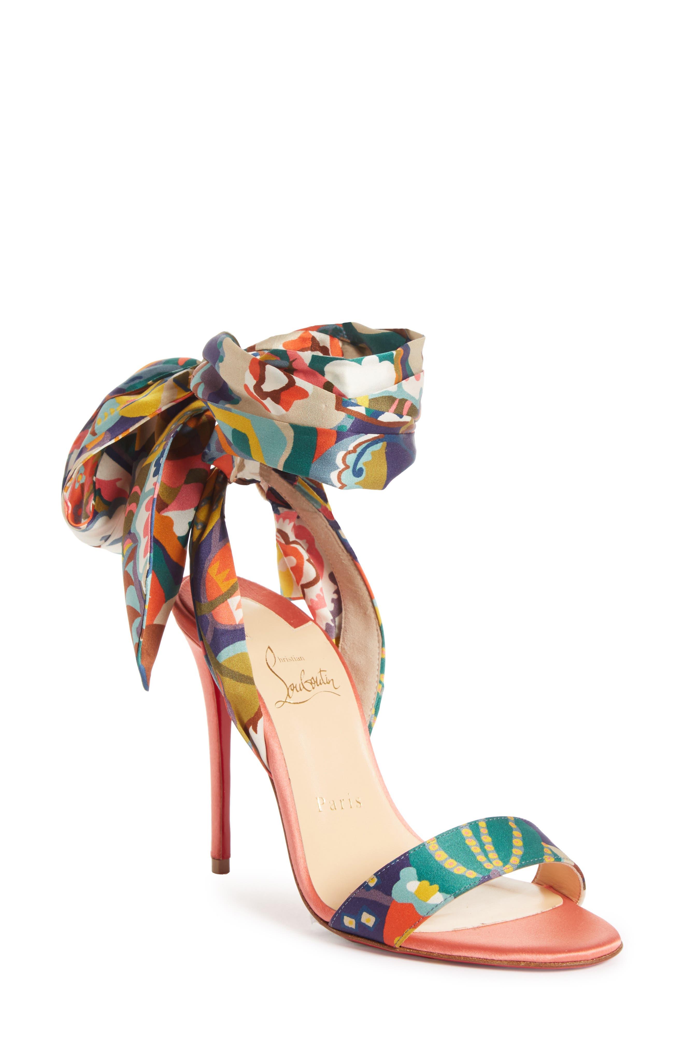Christian Louboutin Women's Sandale Du Desert Ankle Wrap Sandal MldlqH