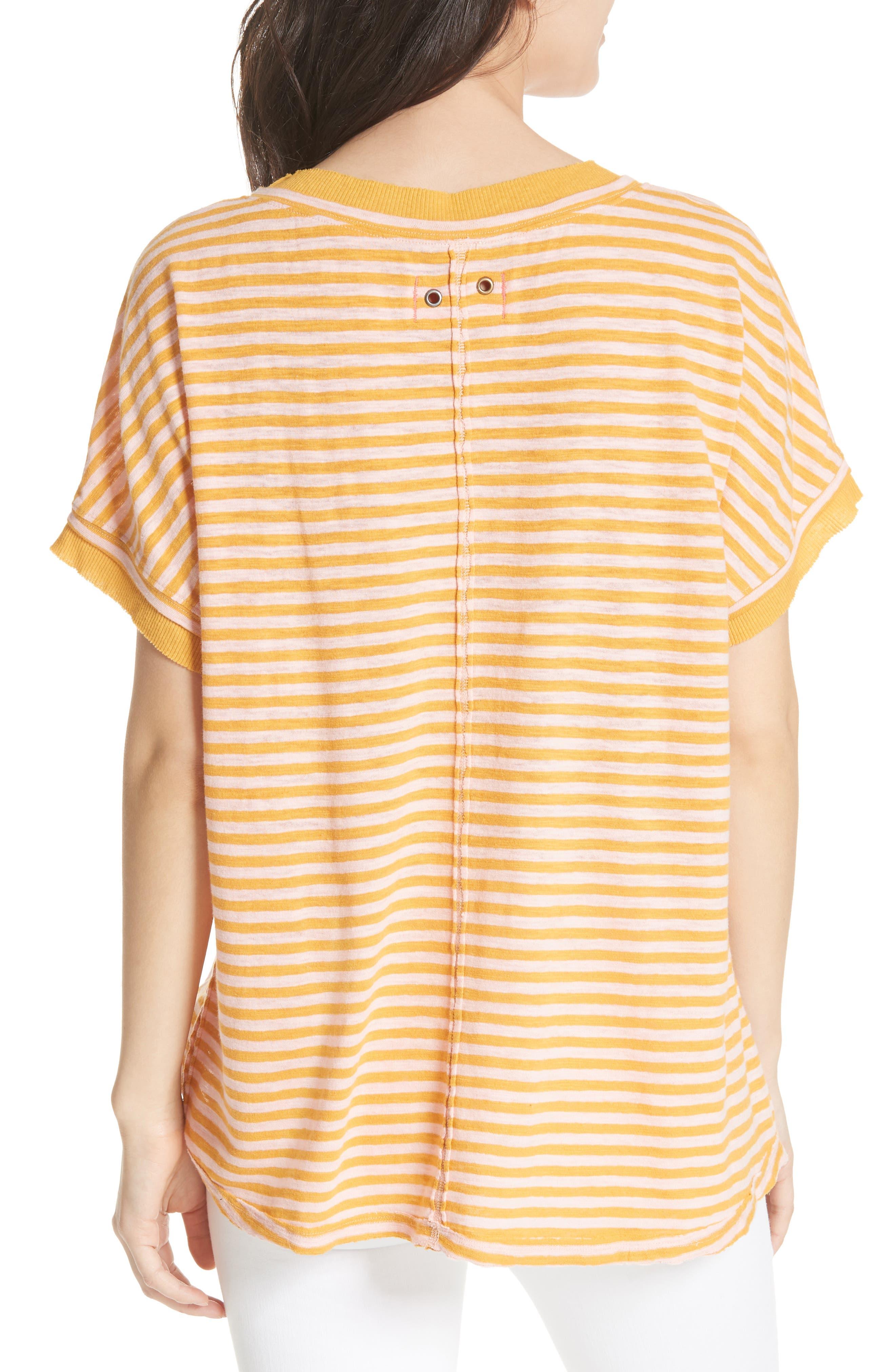 Take Me Stripe Tee,                             Alternate thumbnail 2, color,                             Yellow