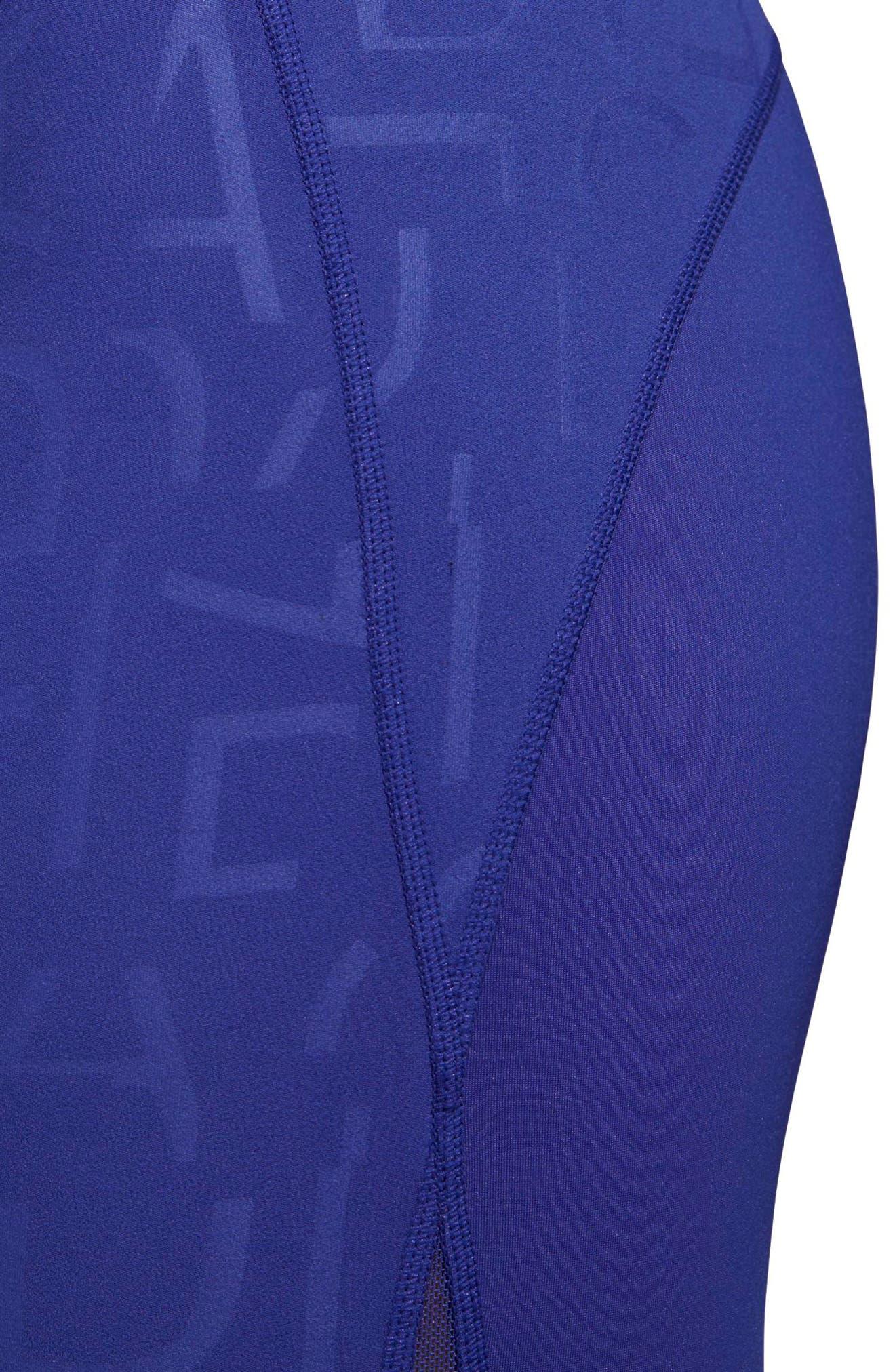 Adihack Crop Tights,                             Alternate thumbnail 7, color,                             Real Purple