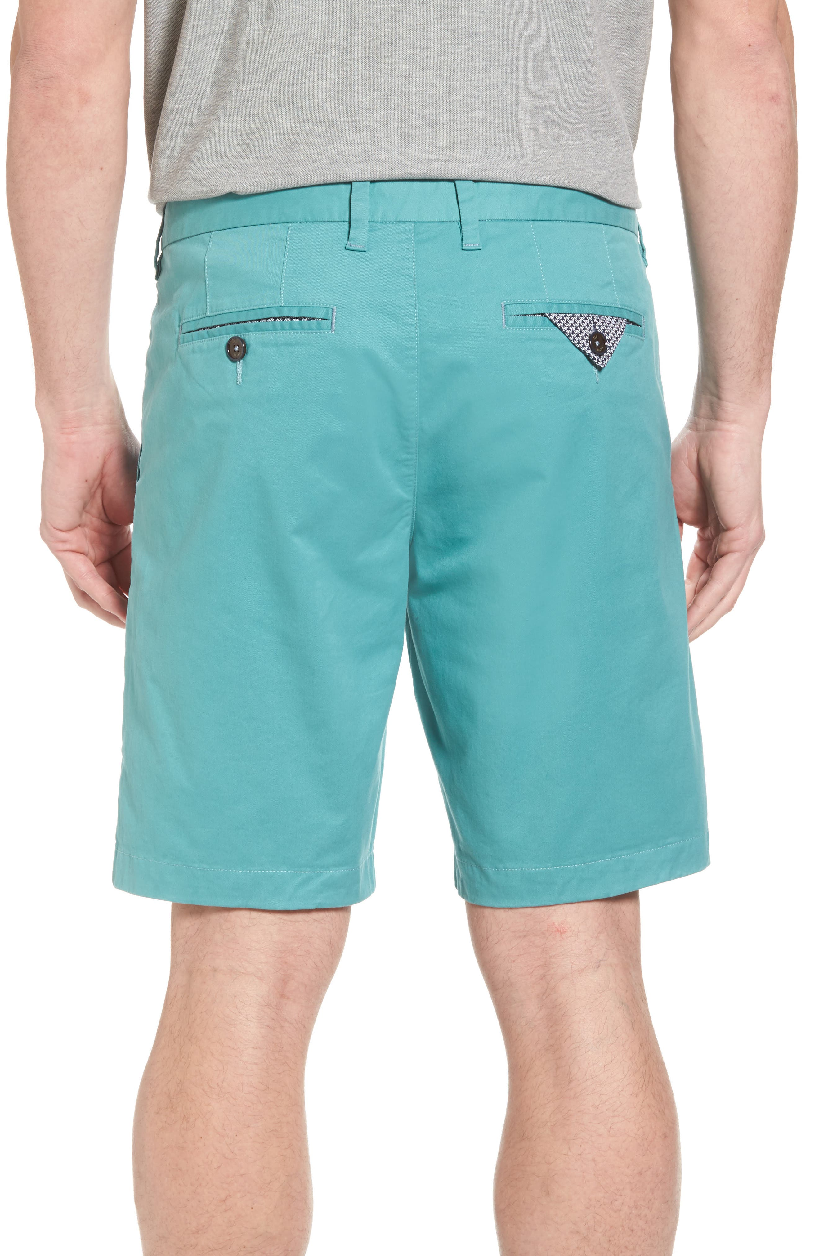 Proshtt Stretch Cotton Shorts,                             Alternate thumbnail 2, color,                             Pale Green