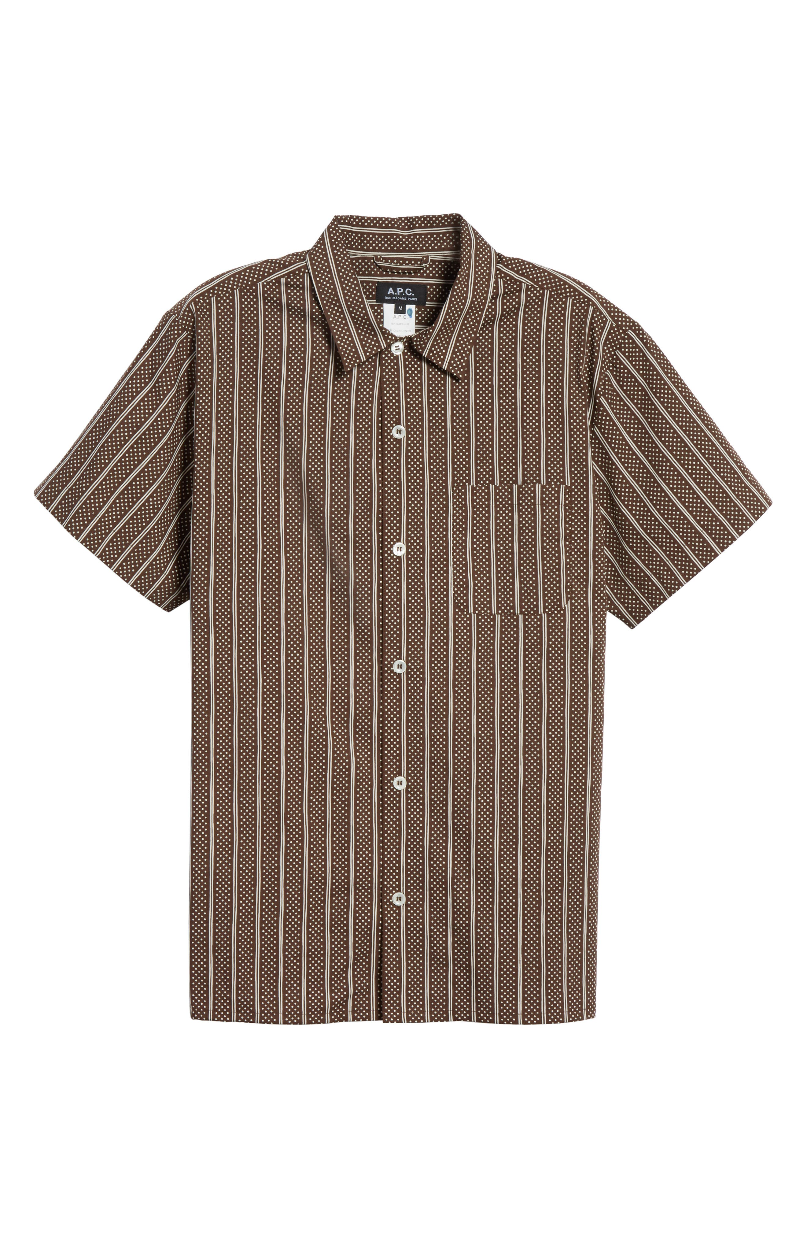 Wonder Sport Shirt,                             Alternate thumbnail 6, color,                             Marron