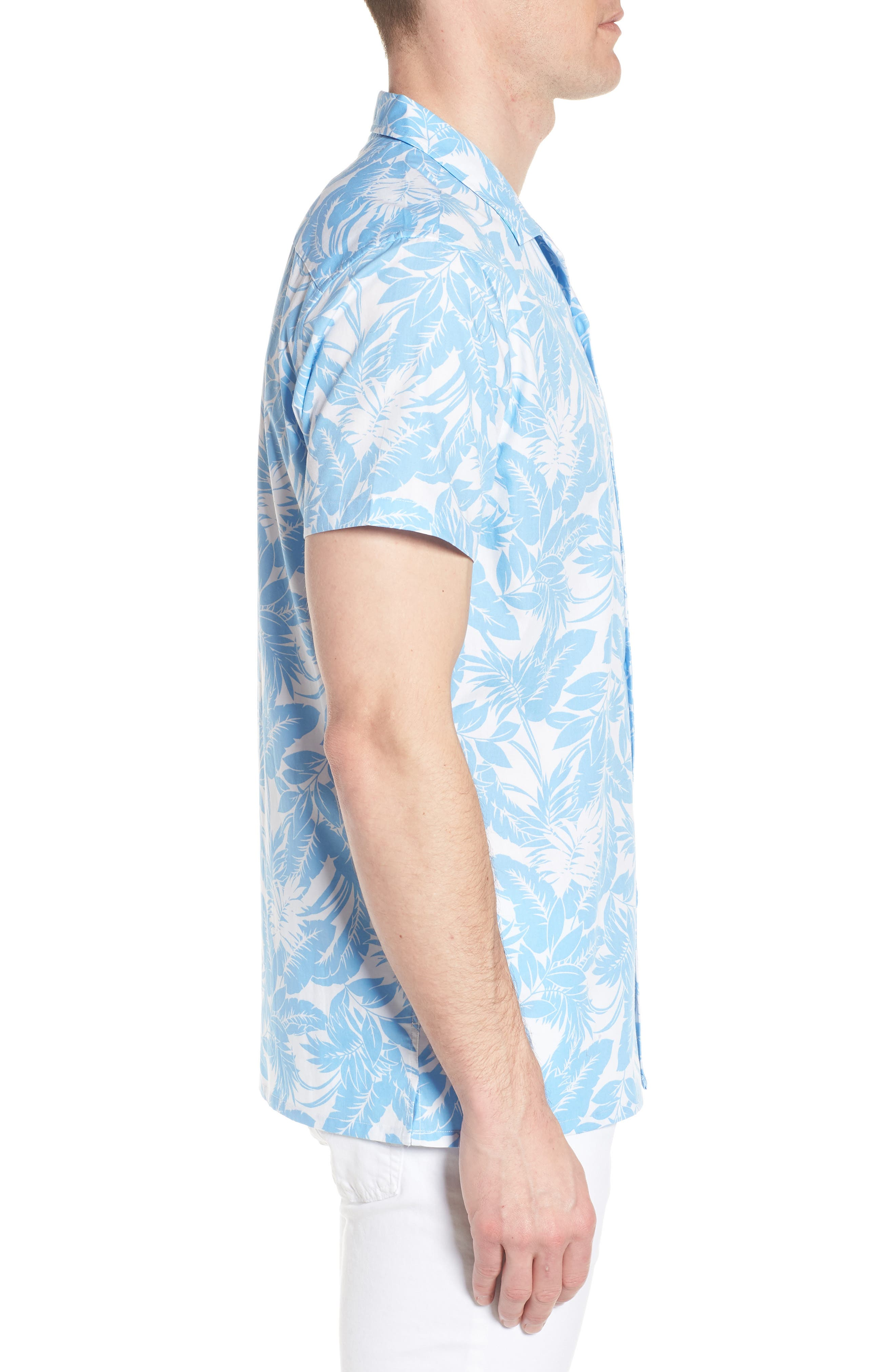 Camp Ventu Regular Fit Short Sleeve Sport Shirt,                             Alternate thumbnail 4, color,                             Sky