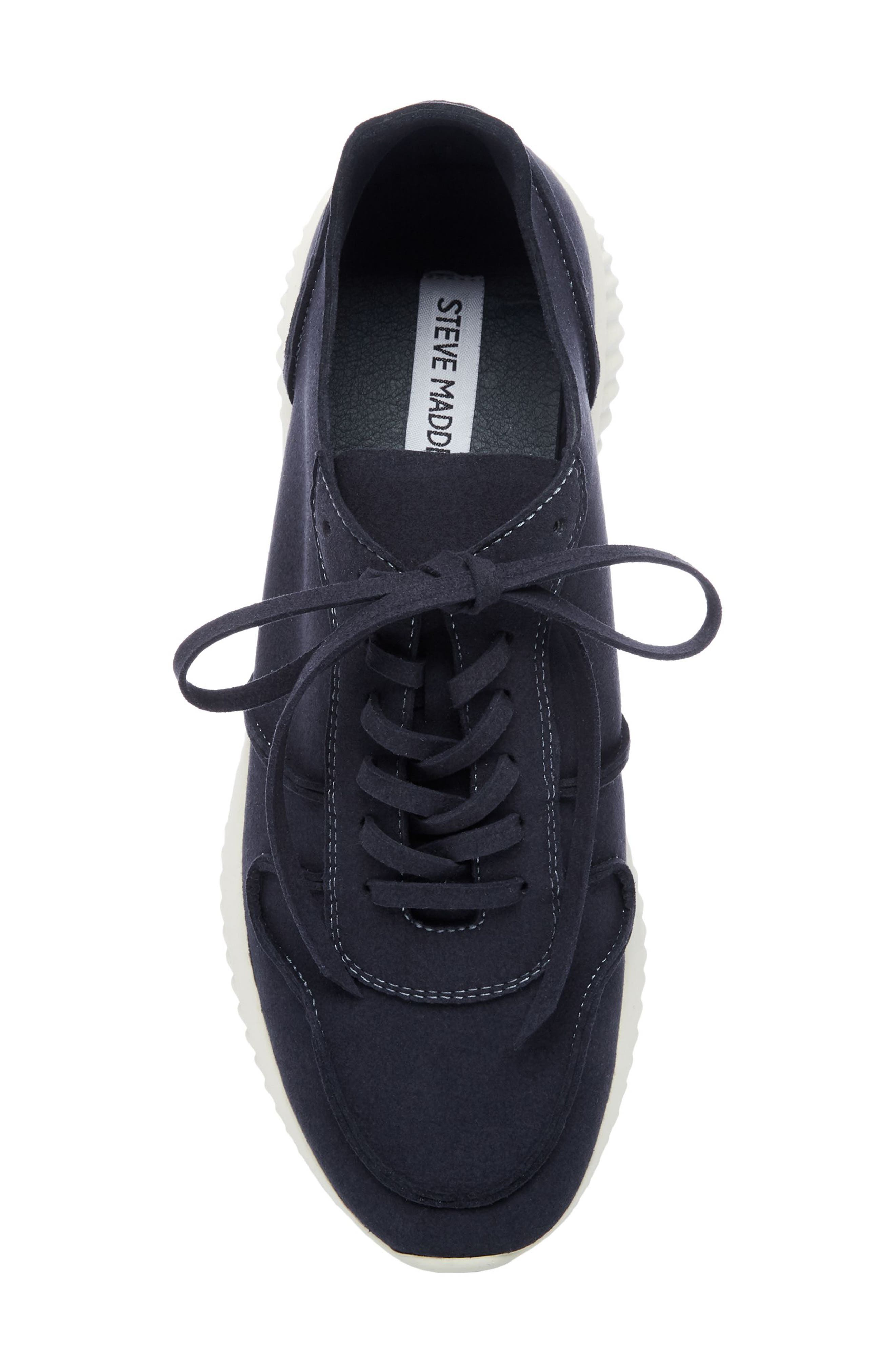 Rolf Low Top Sneaker,                             Alternate thumbnail 5, color,                             Navy Leather