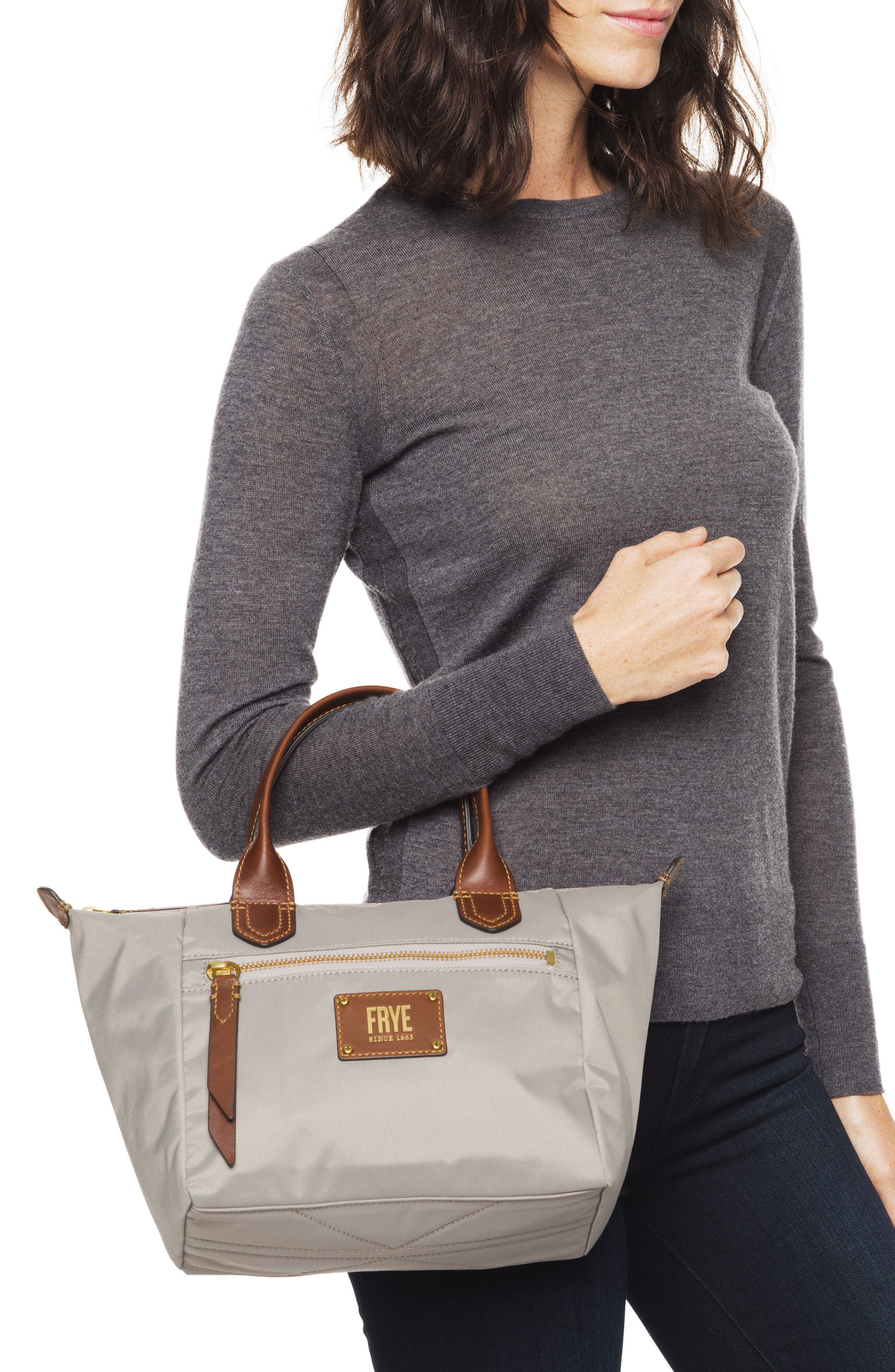 Small Ivy Nylon Tote,                             Alternate thumbnail 2, color,                             Light Grey