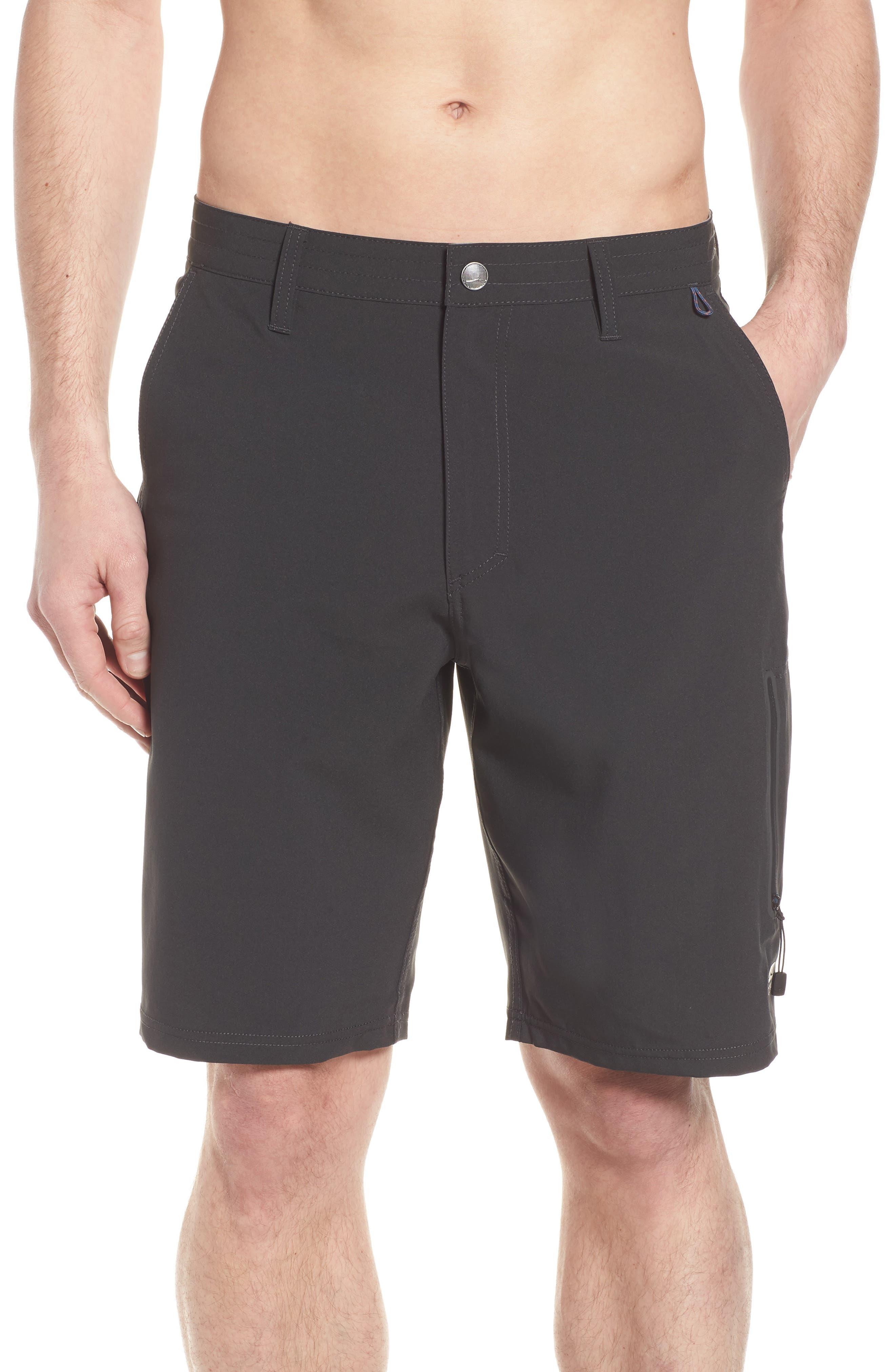 Pipeline Hybrid Shorts,                             Alternate thumbnail 4, color,                             Black