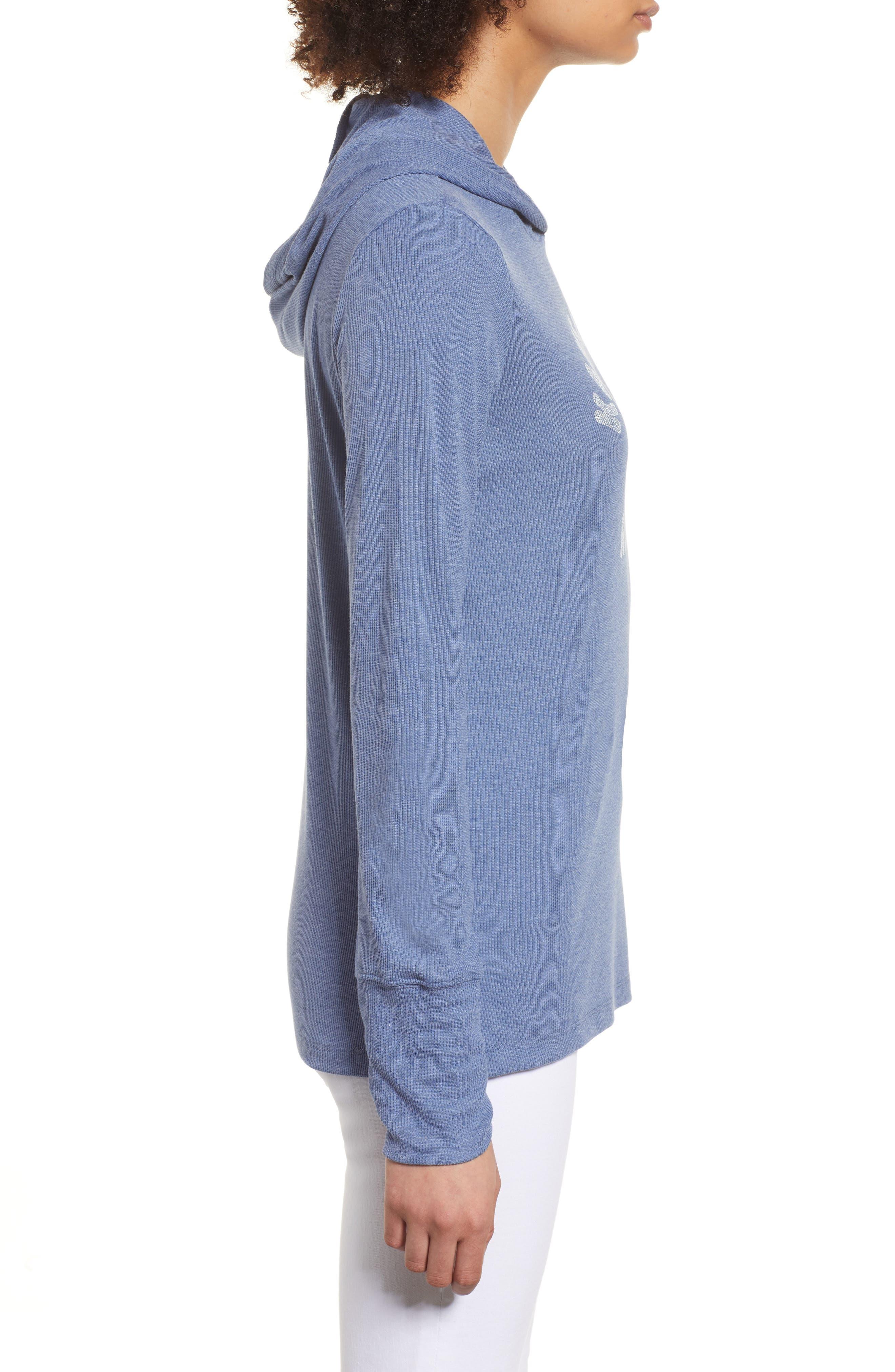 Campbell Kansas City Royals Rib Knit Hooded Top,                             Alternate thumbnail 3, color,                             Bleacher Blue