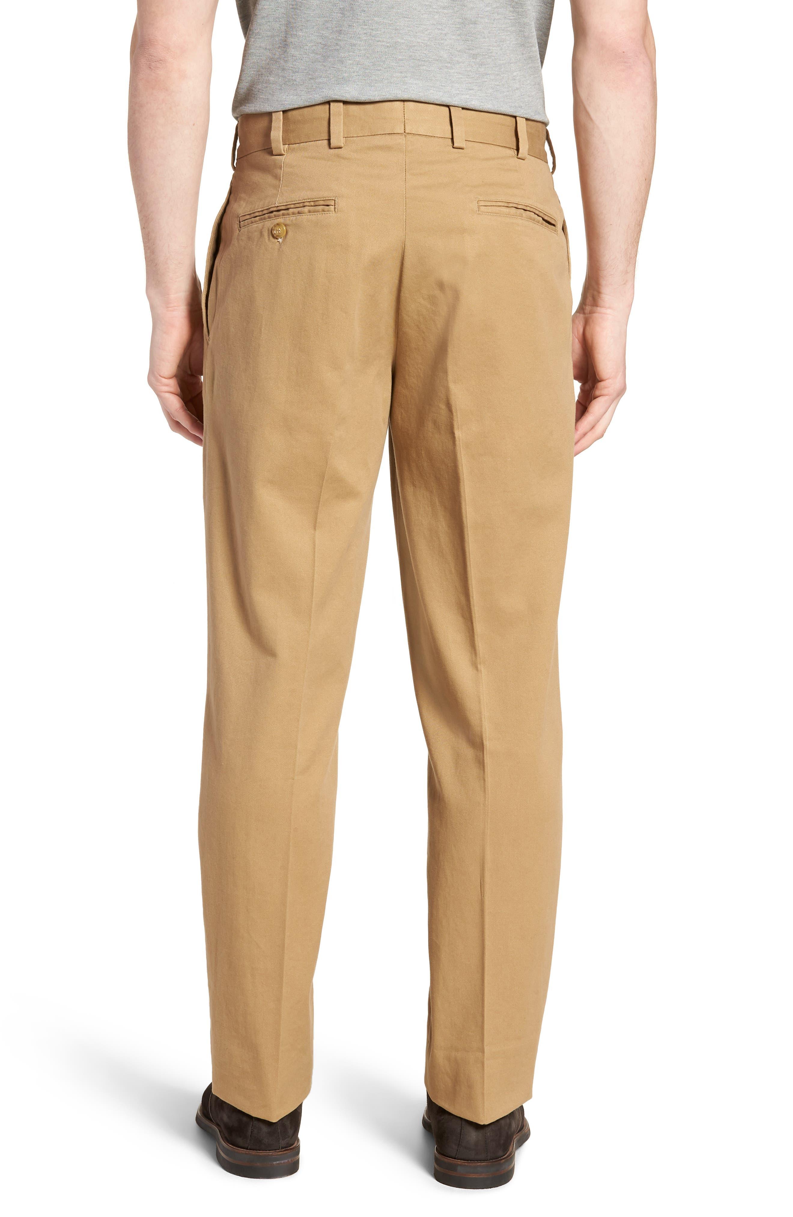 M2 Classic Fit Pleated Vintage Twill Pants,                             Alternate thumbnail 2, color,                             British Khaki