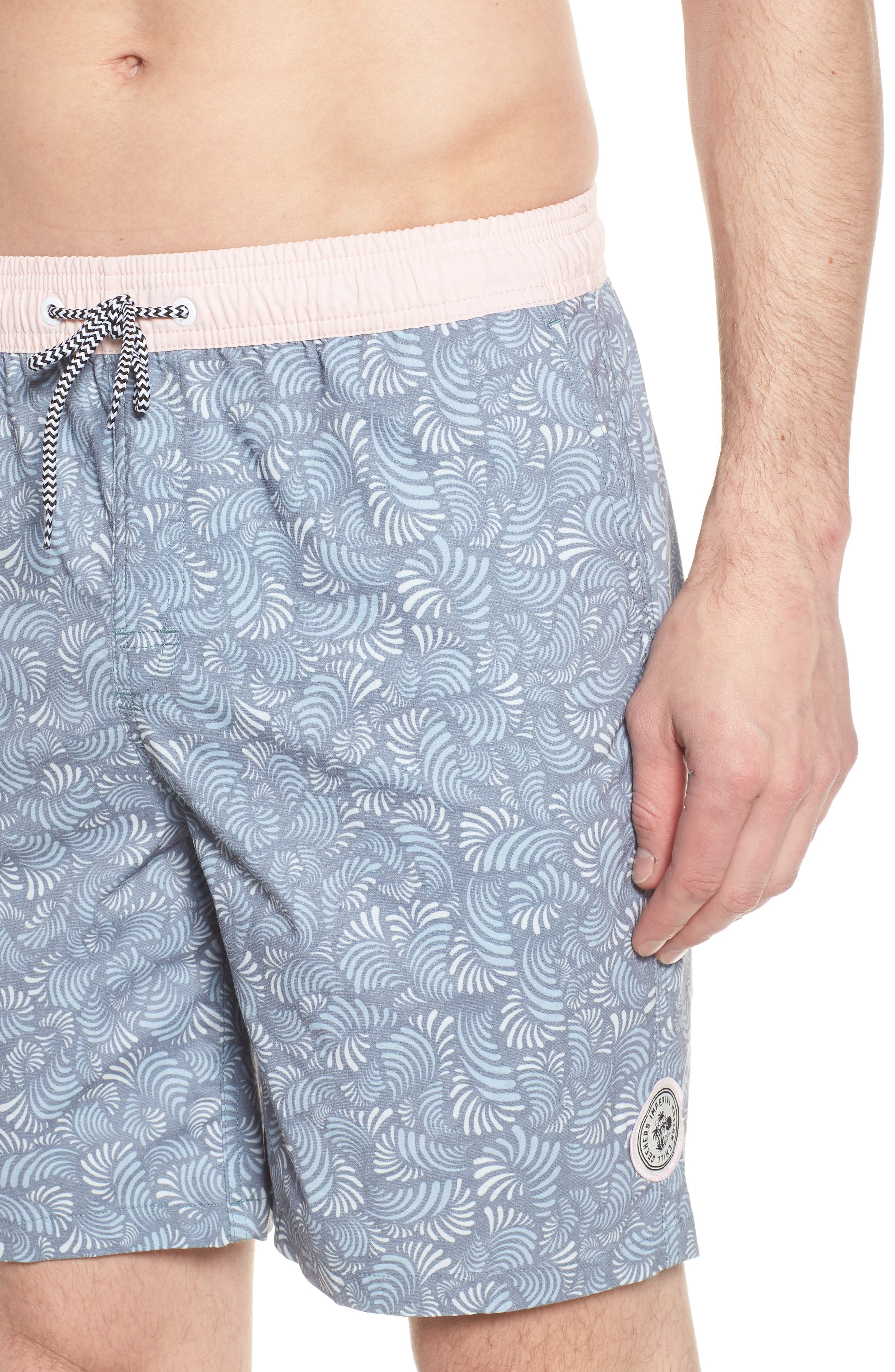 Hayworth Mix Board Shorts,                             Alternate thumbnail 4, color,                             Light Pink/ Blue