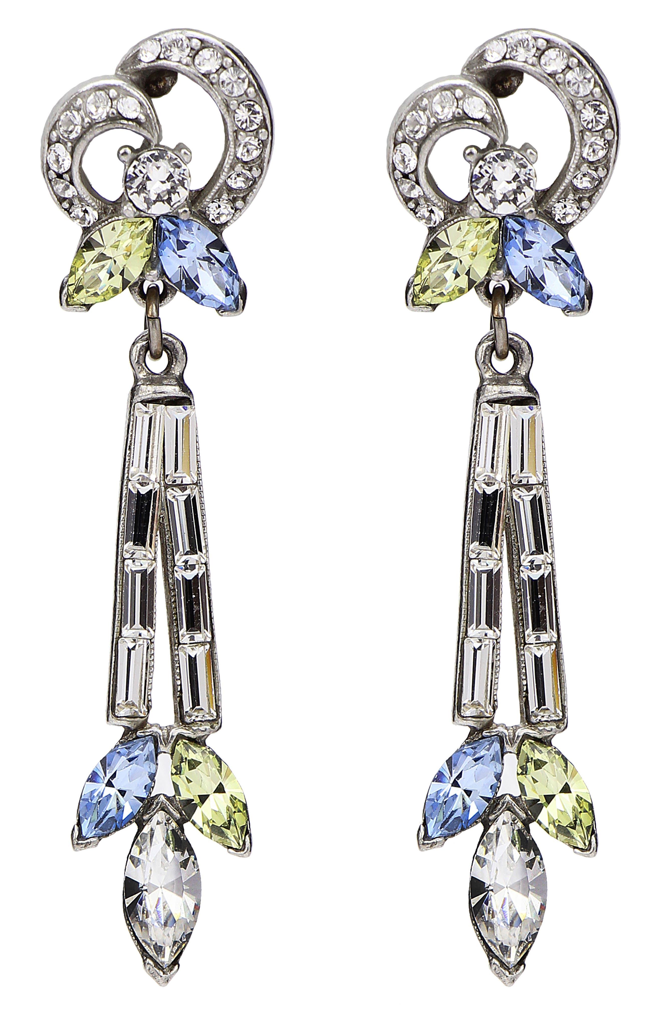 Ben-Amun Multicolor Baguette Earrings